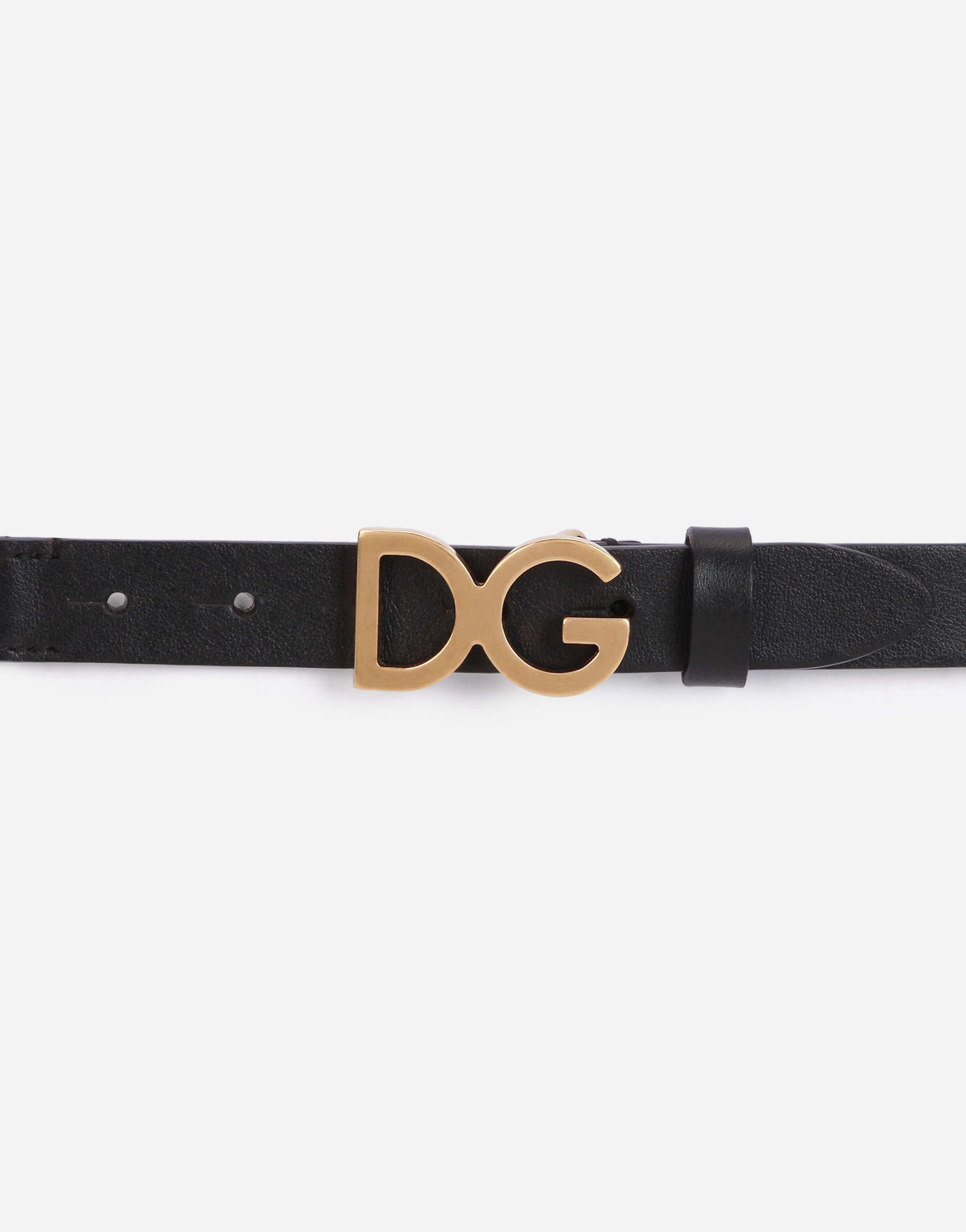 Dolce&Gabbana ELASTIC BELT WITH BRANDED PLAQUE
