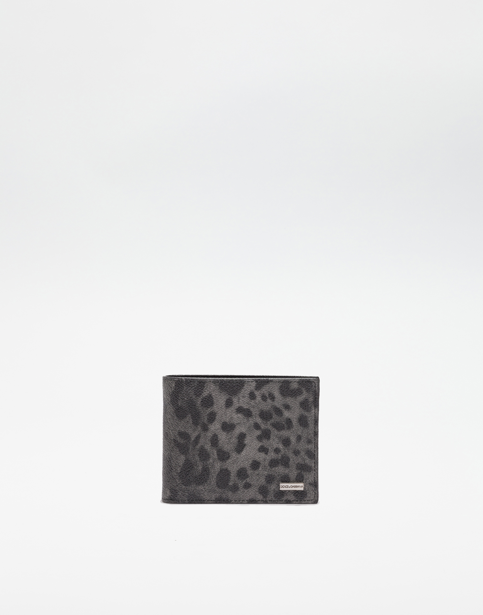 LEOPARD TEXTURED LEATHER WALLET