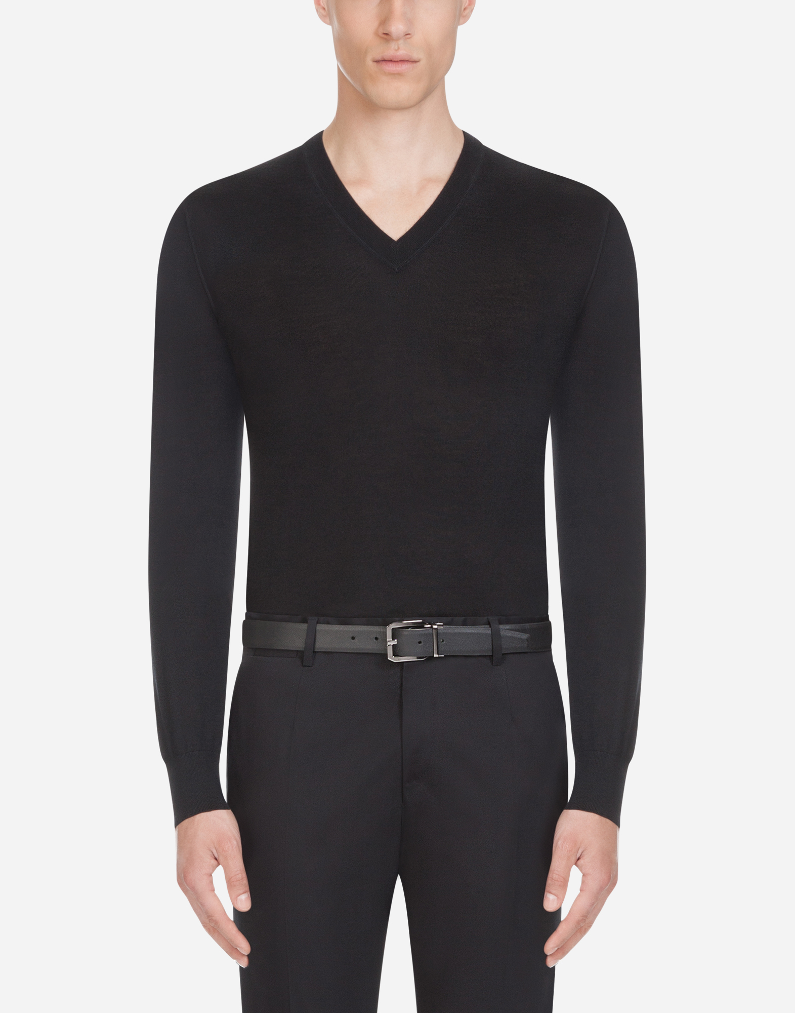 Dolce&Gabbana V-NECK SWEATER IN CASHMERE