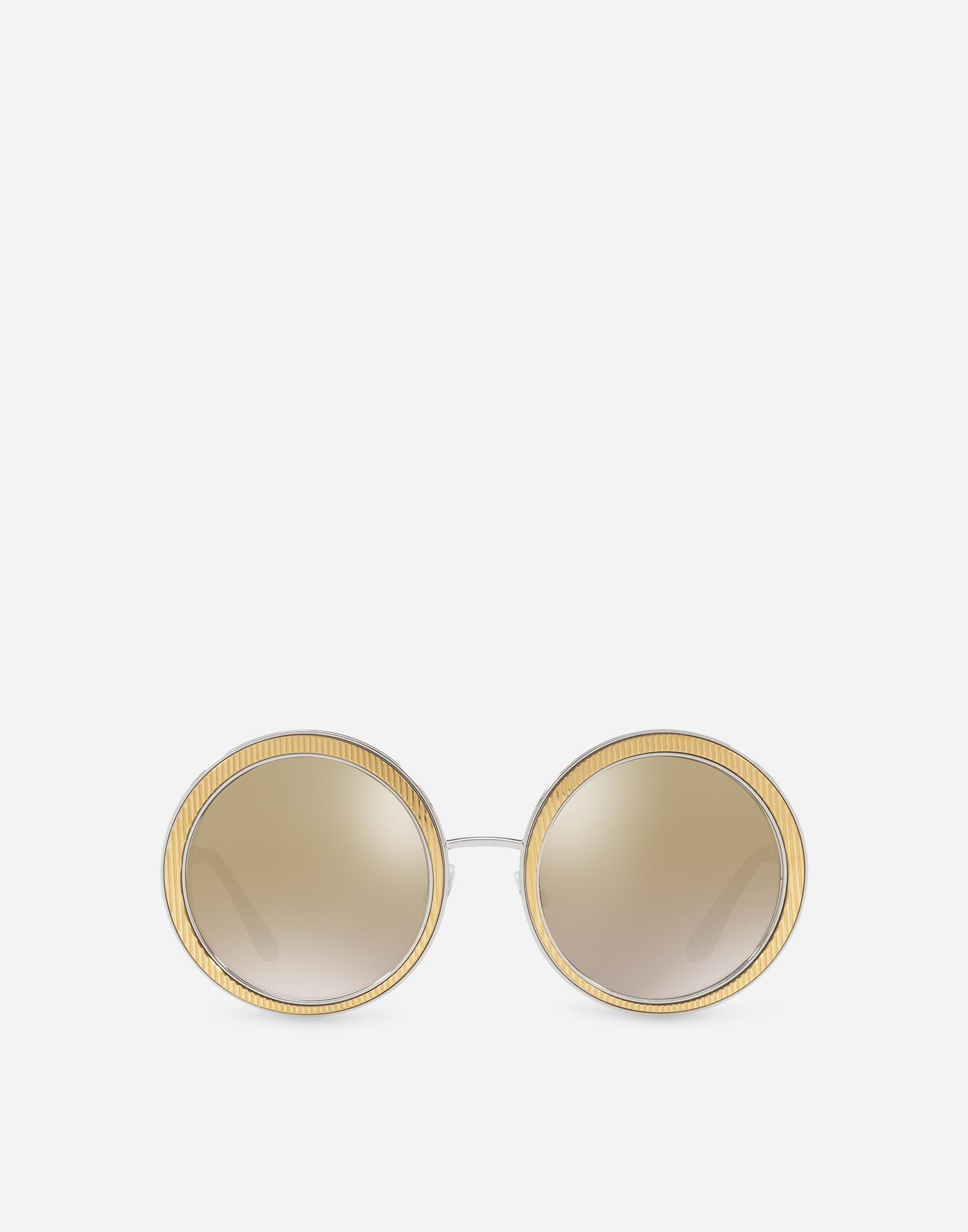 Dolce&Gabbana COPPER-SILVER ROUND SUNGLASSES