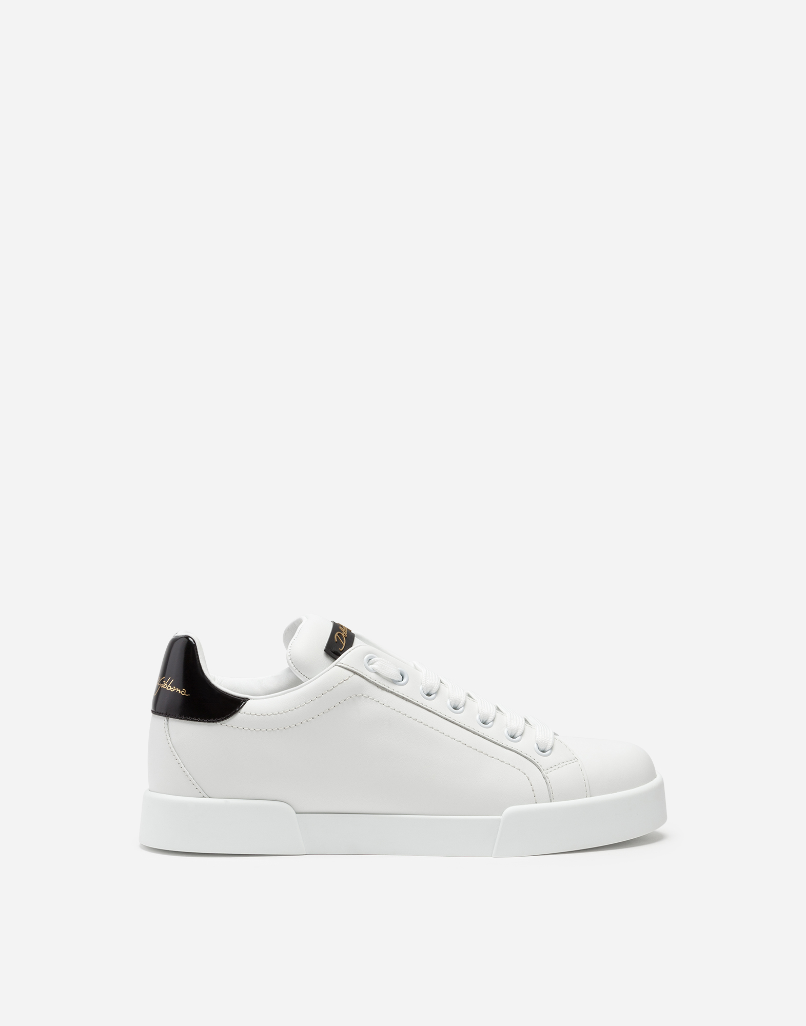 LEATHER SNEAKERS WITH SLOGAN PATCH AND APPLICATIONS