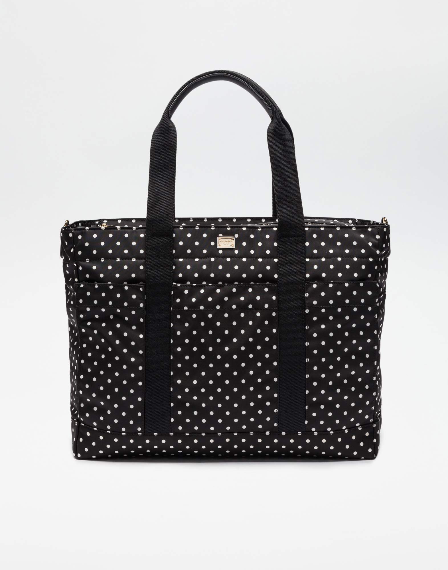 Dolce&Gabbana NYLON NAPPY BAG WITH POLKA DOT PRINT