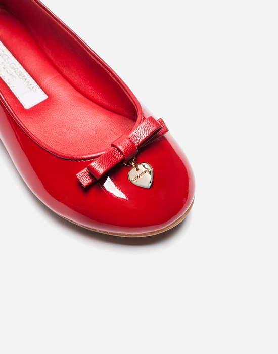 Dolce&Gabbana PATENT LEATHER BALLET FLATS WITH BOW DETAIL