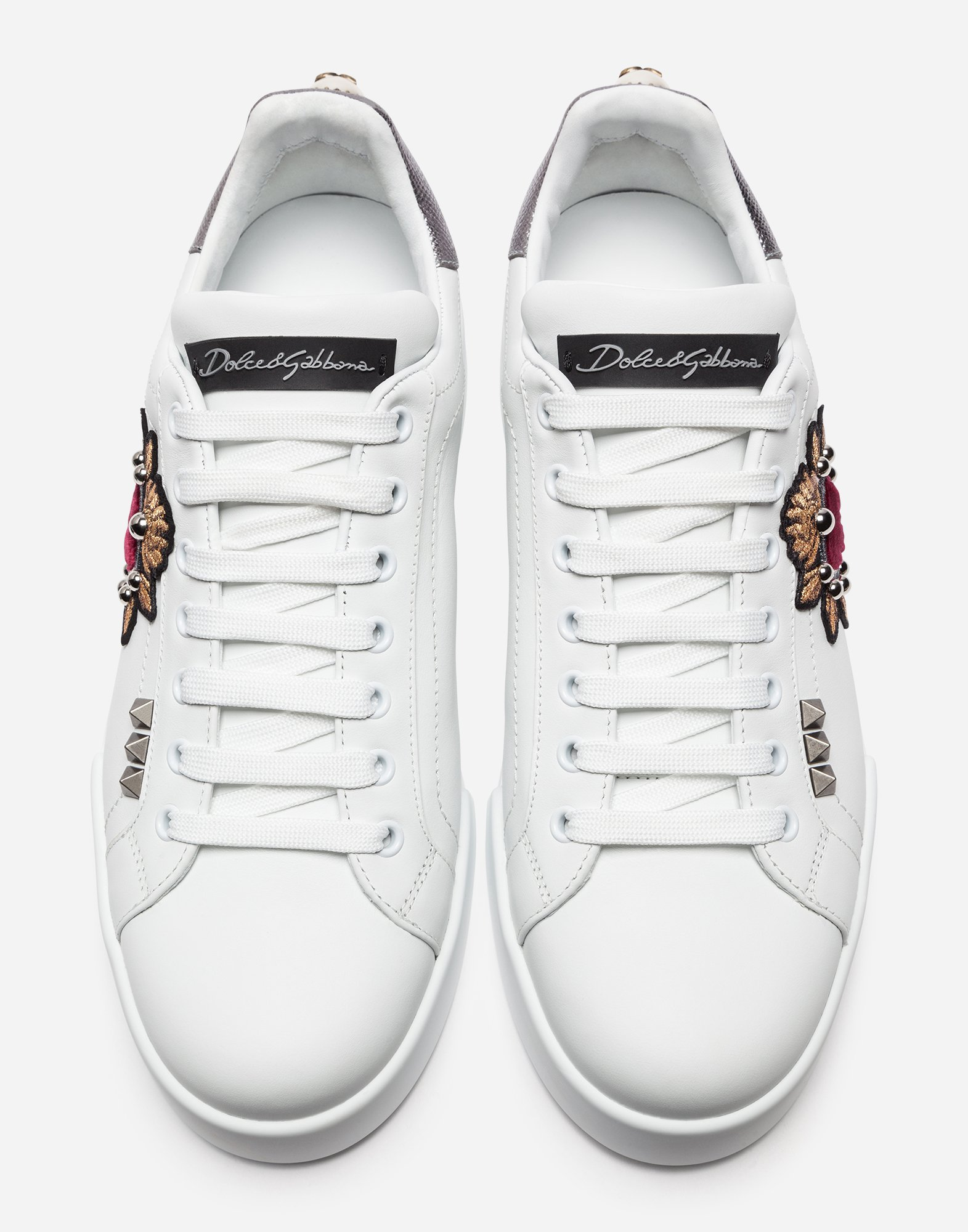 PORTOFINO SNEAKERS IN NAPPA CALFSKIN WITH PATCHES