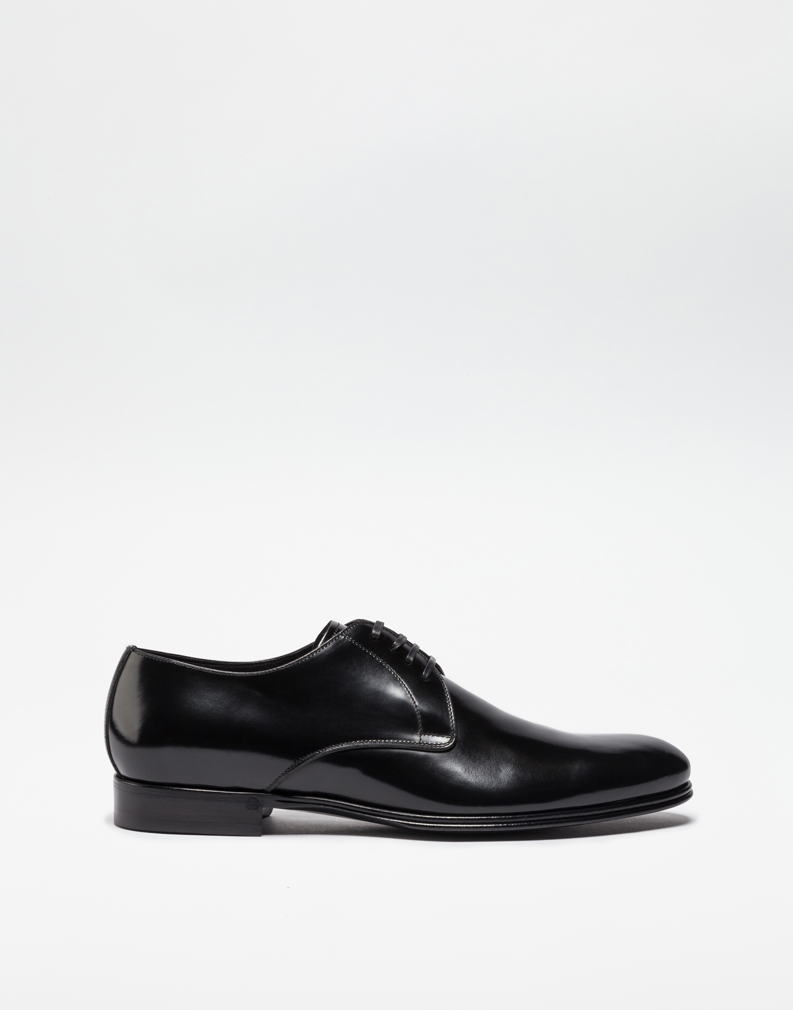 BRUSHED LEATHER DERBY SHOES