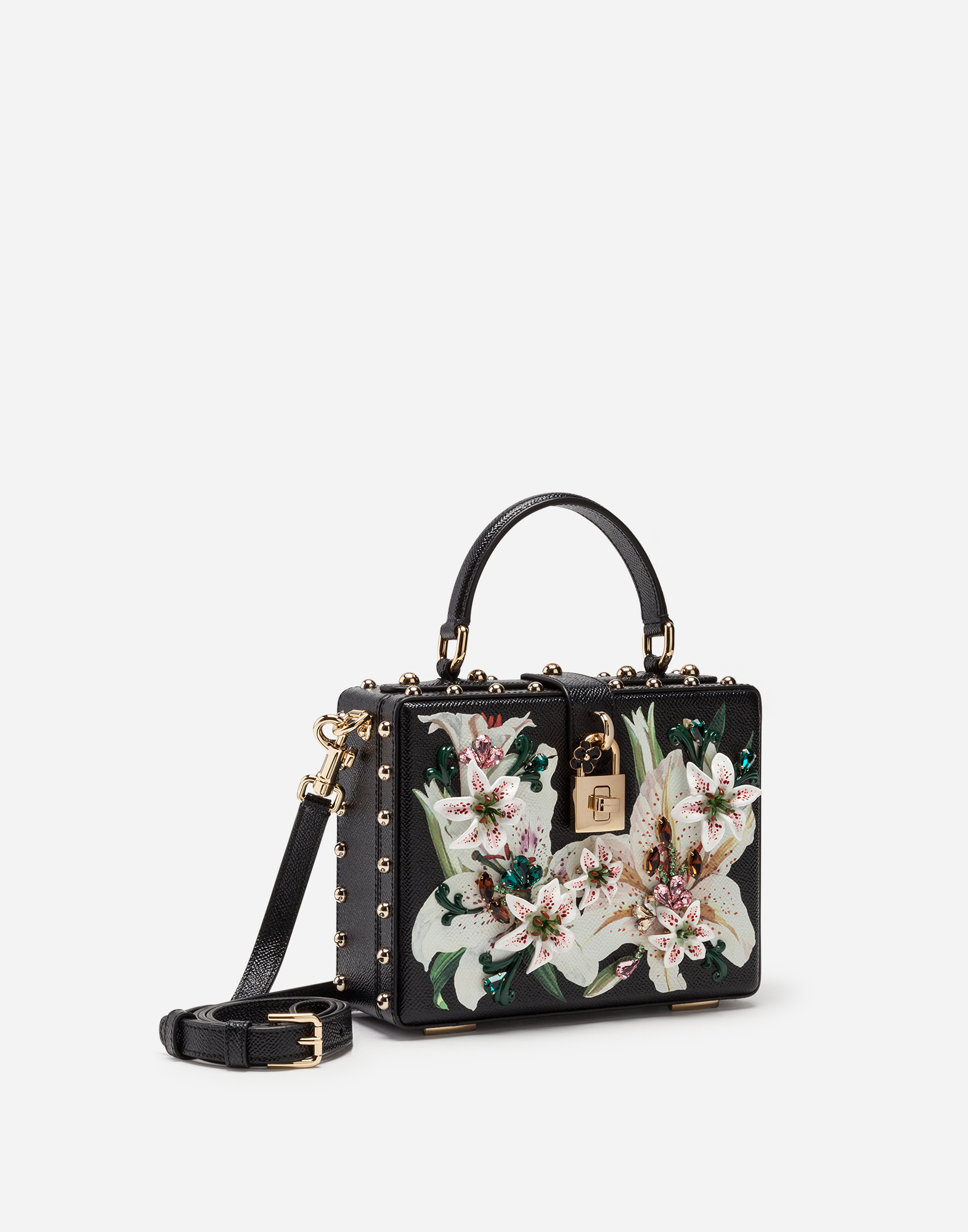 b951f767d9 Women's Handbags   Dolce&Gabbana - DOLCE BOX BAG IN LILY-PRINT ...