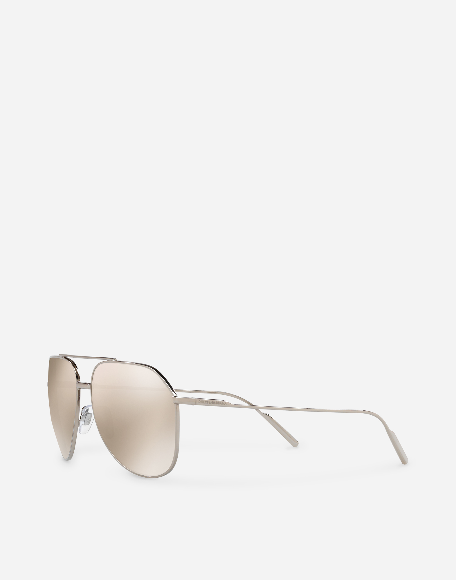 Dolce & Gabbana AVIATOR SUNGLASSES IN GOLD-PLATED METAL