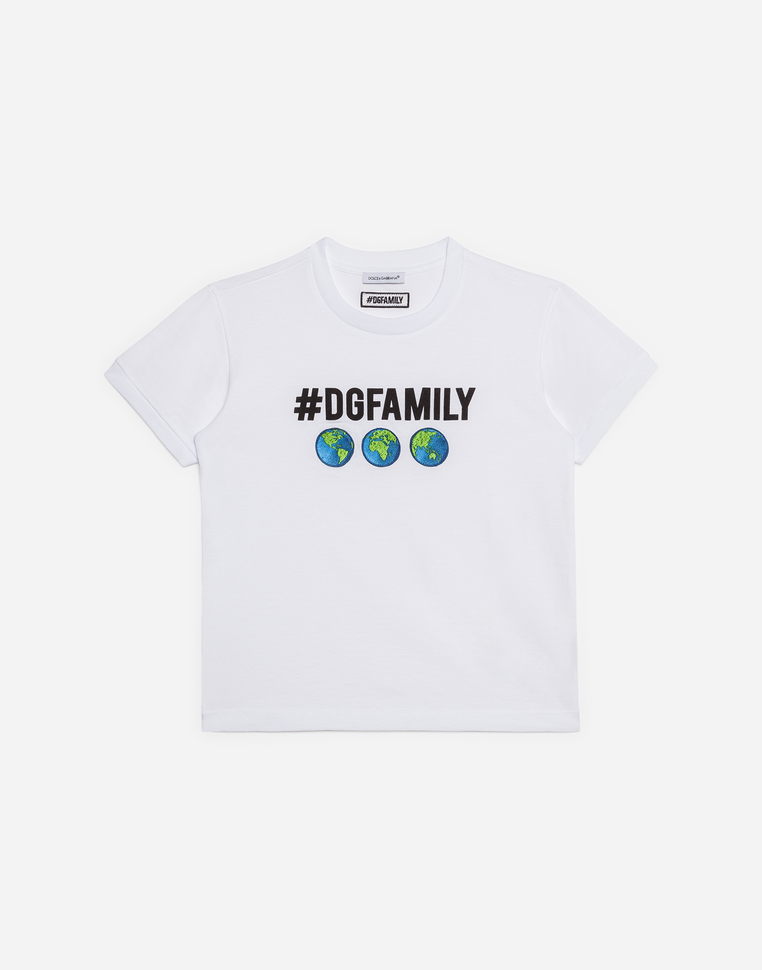 Dolce & Gabbana COTTON T-SHIRT WITH PATCH