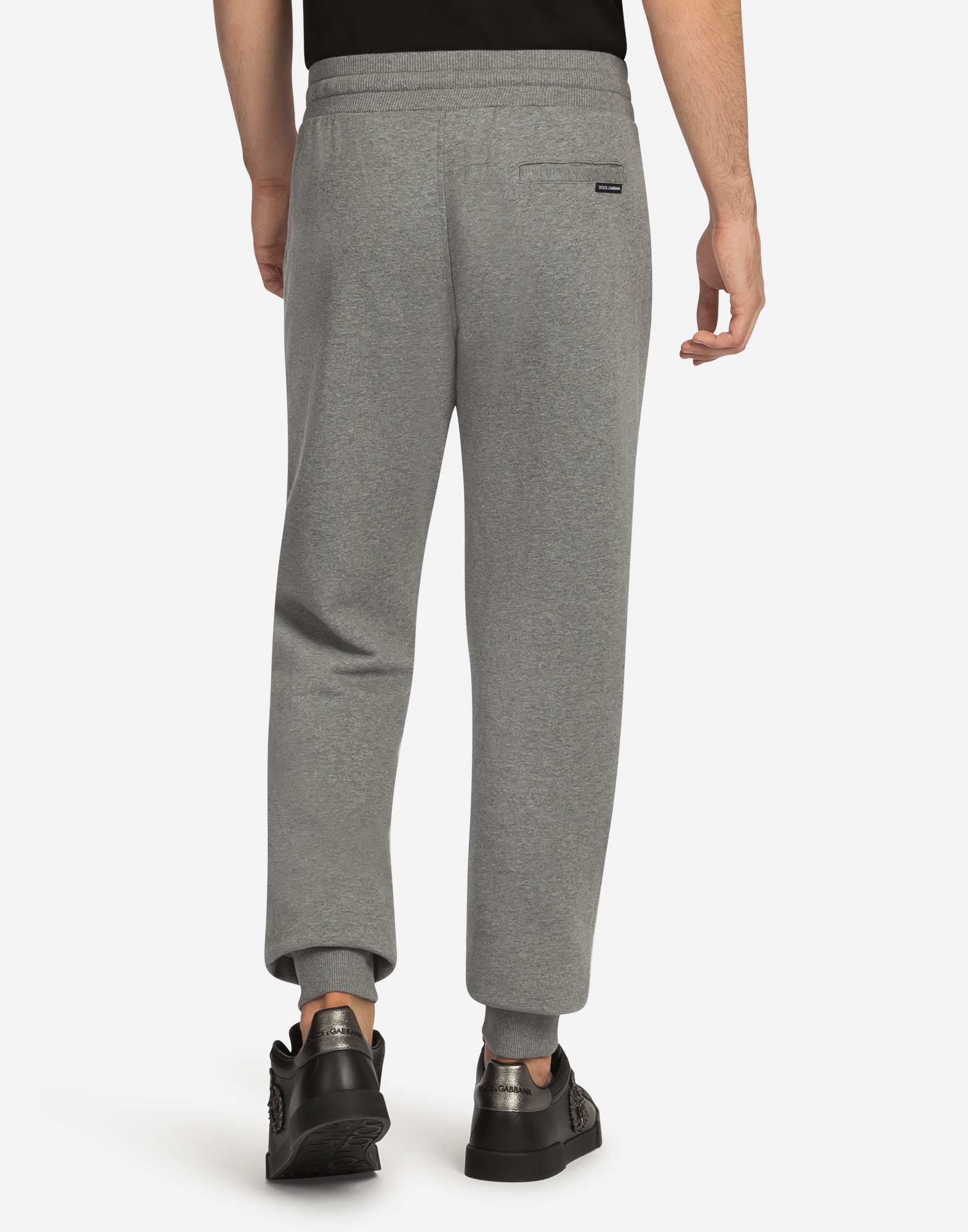 Dolce&Gabbana COTTON JOGGING PANTS WITH PATCHES