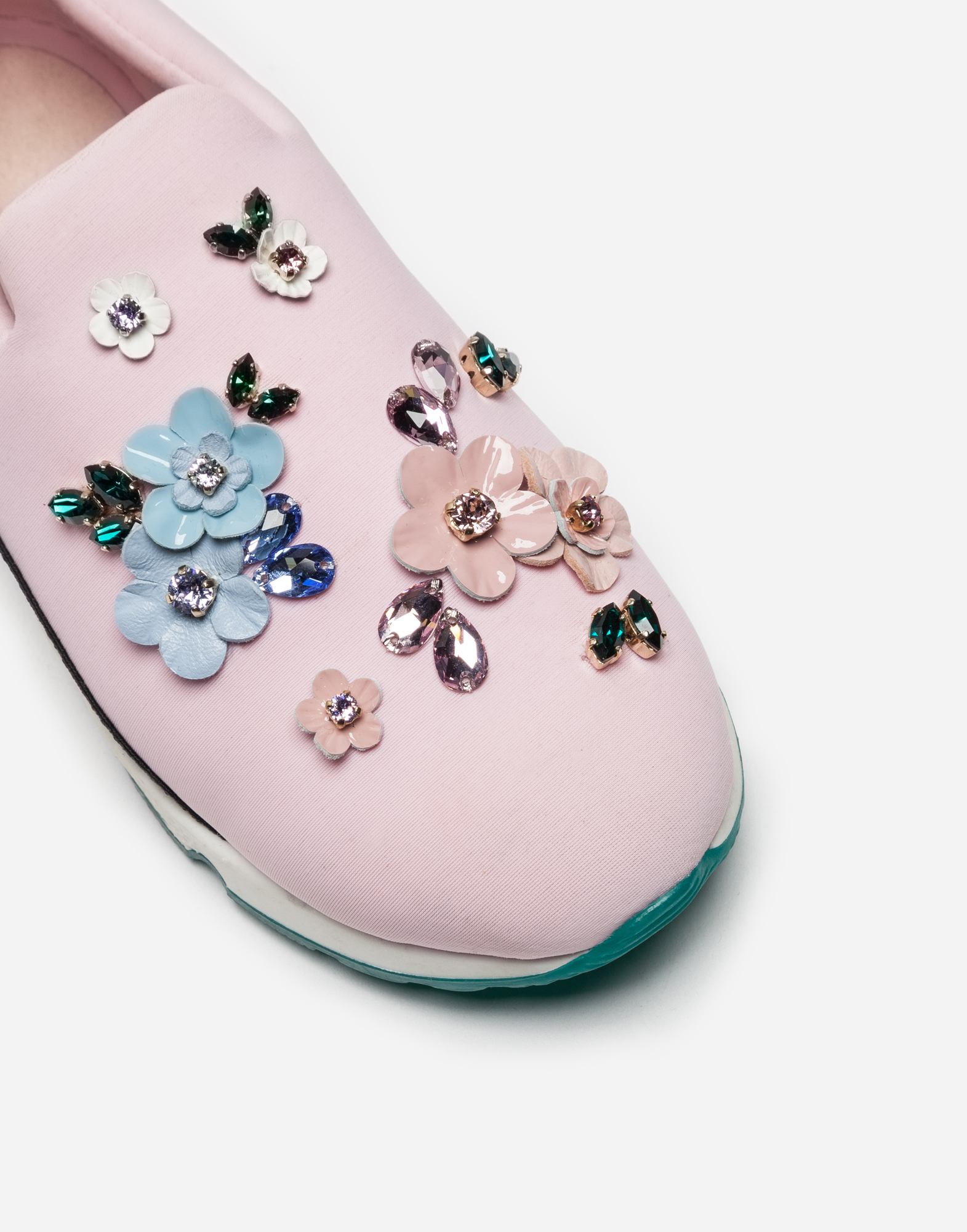 Dolce&Gabbana SLIP-ON SNEAKERS WITH APPLIQUÉ DETAILS