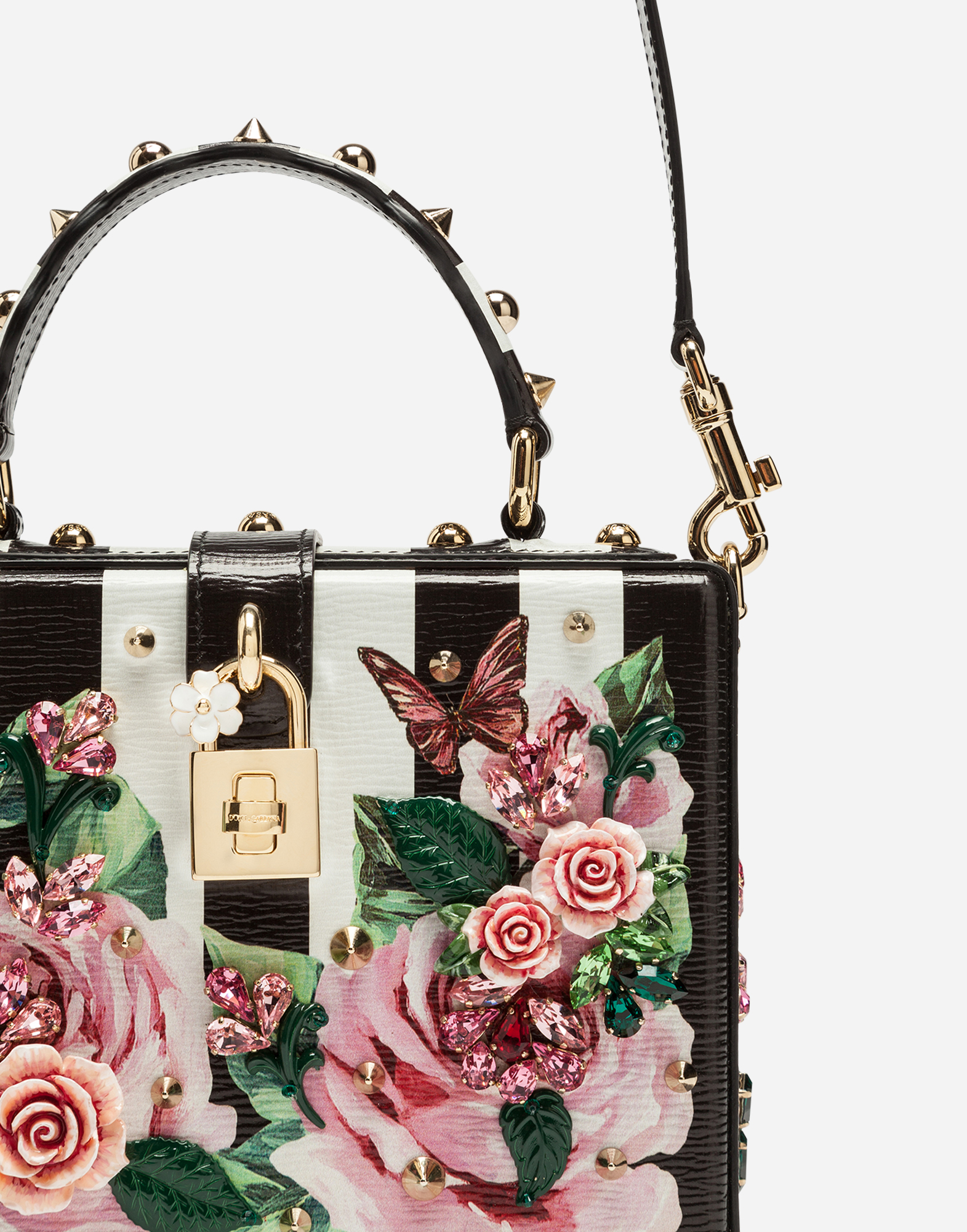 DOLCE BOX BAG IN PRINTED DAUPHINE