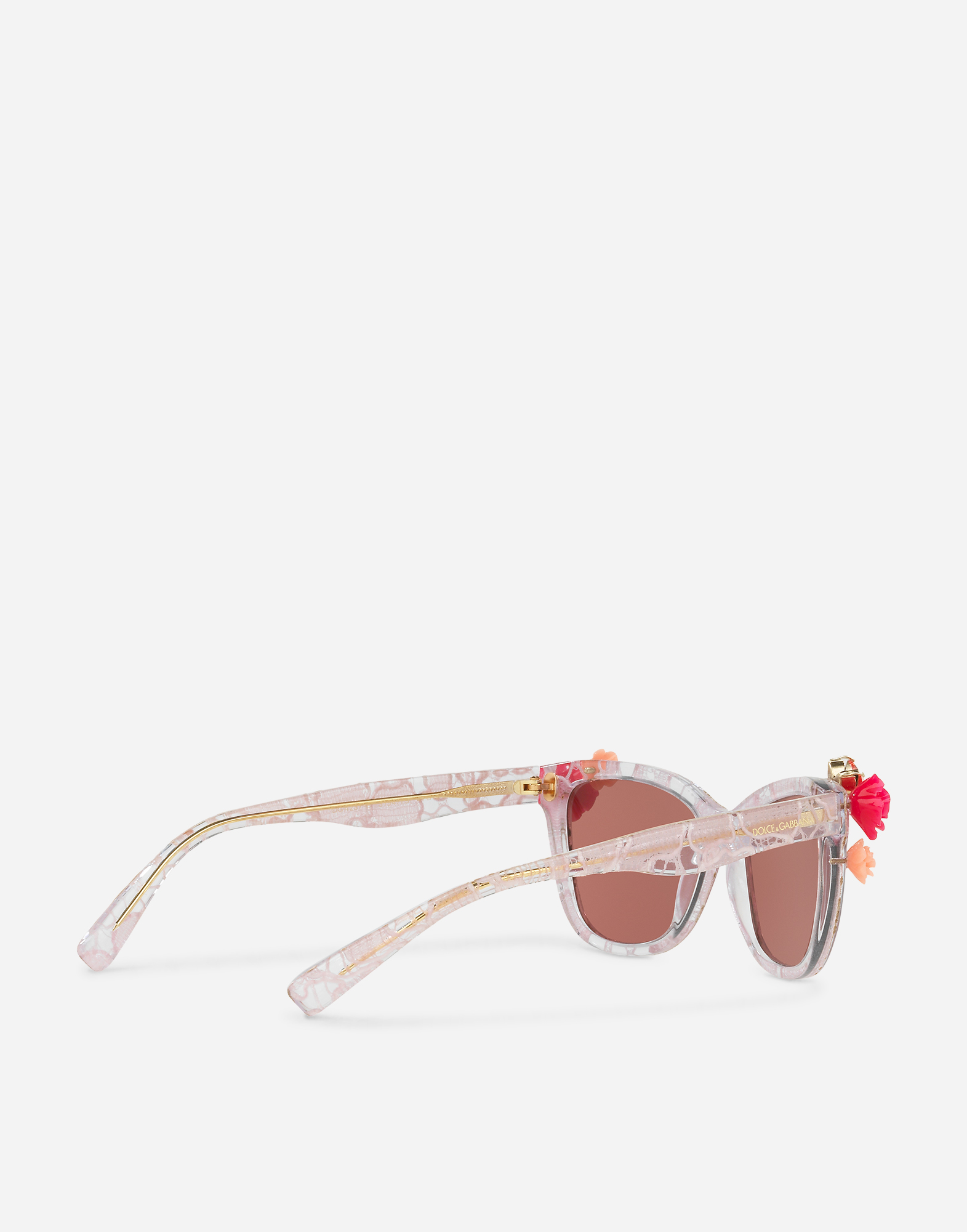 Dolce & Gabbana SQUARE SUNGLASSES WITH APPLIQUÉ