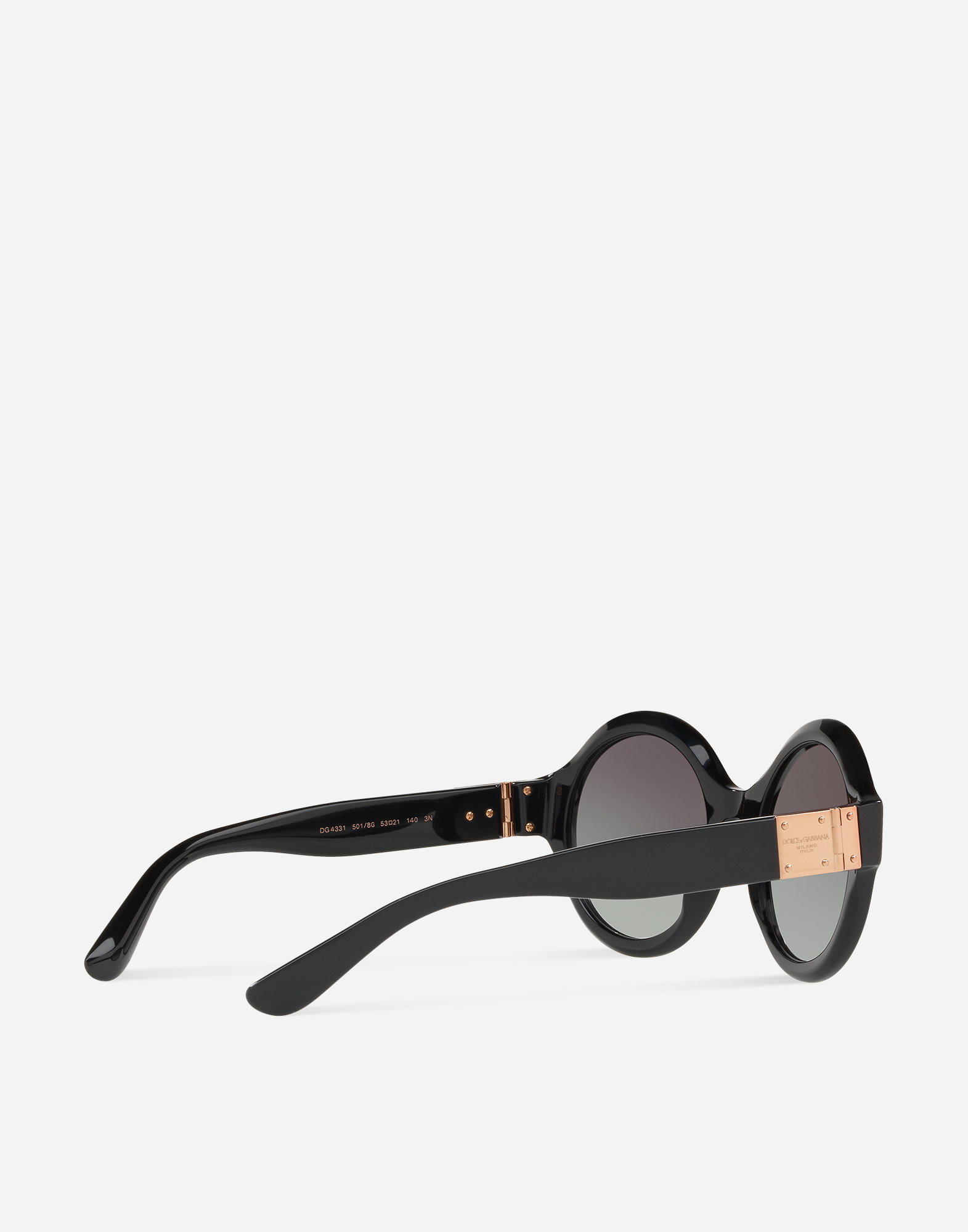 ROUND SUNGLASSES IN ACETATE WITH LOGO PLATE