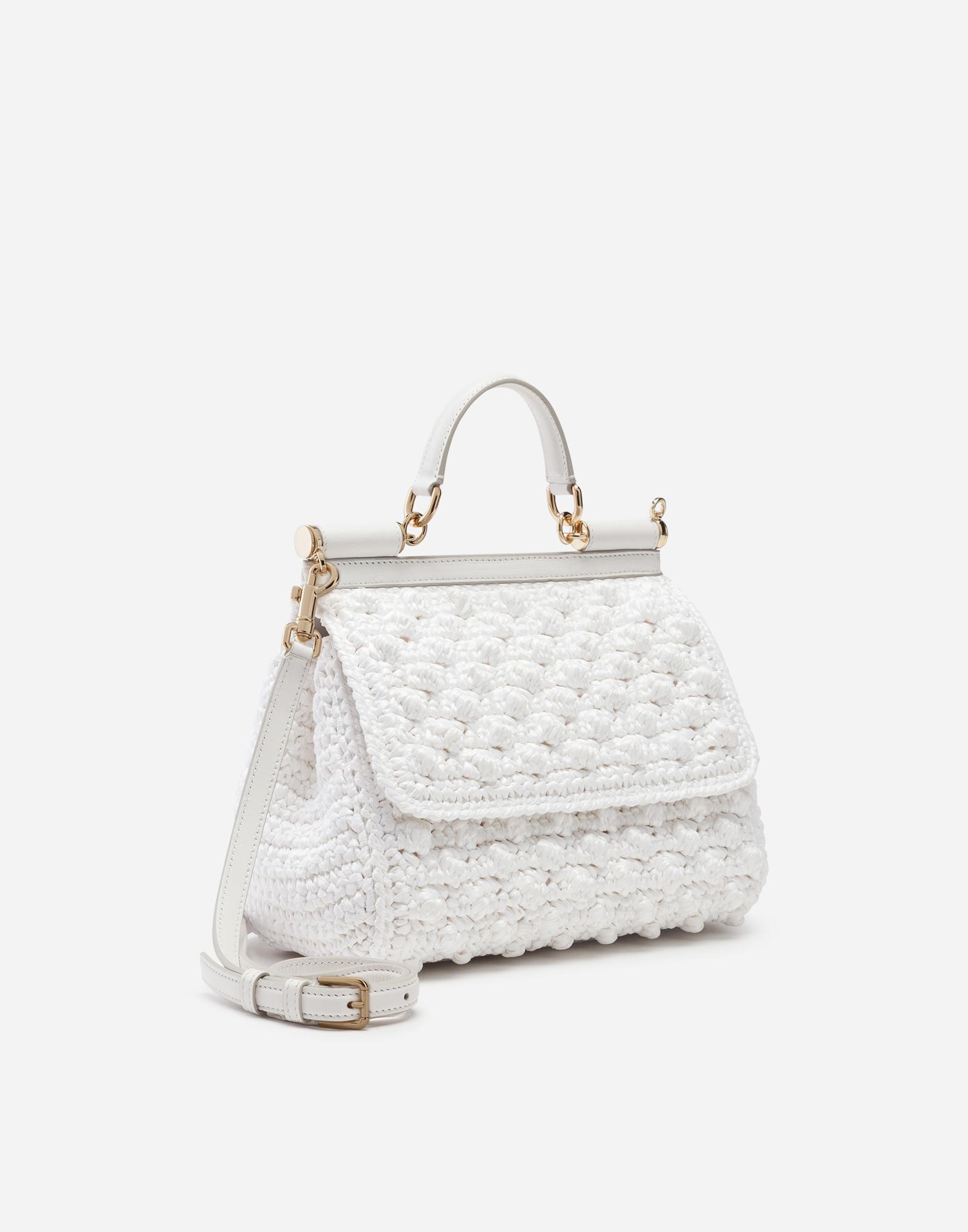735c54cc020 Medium Crocheted Sicily Bag - Women s   Dolce Gabbana