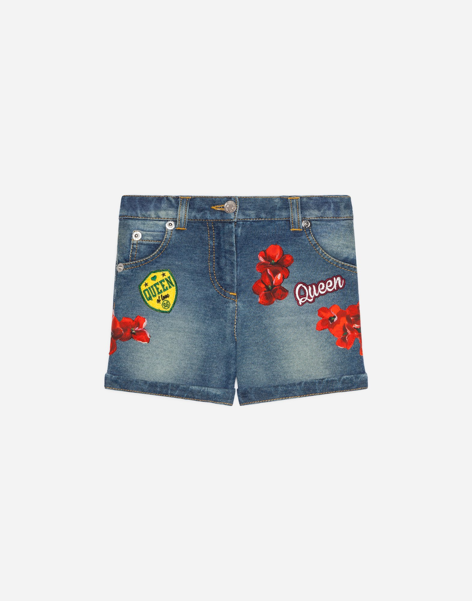 Dolce & Gabbana DENIM SHORTS WITH EMBROIDERY