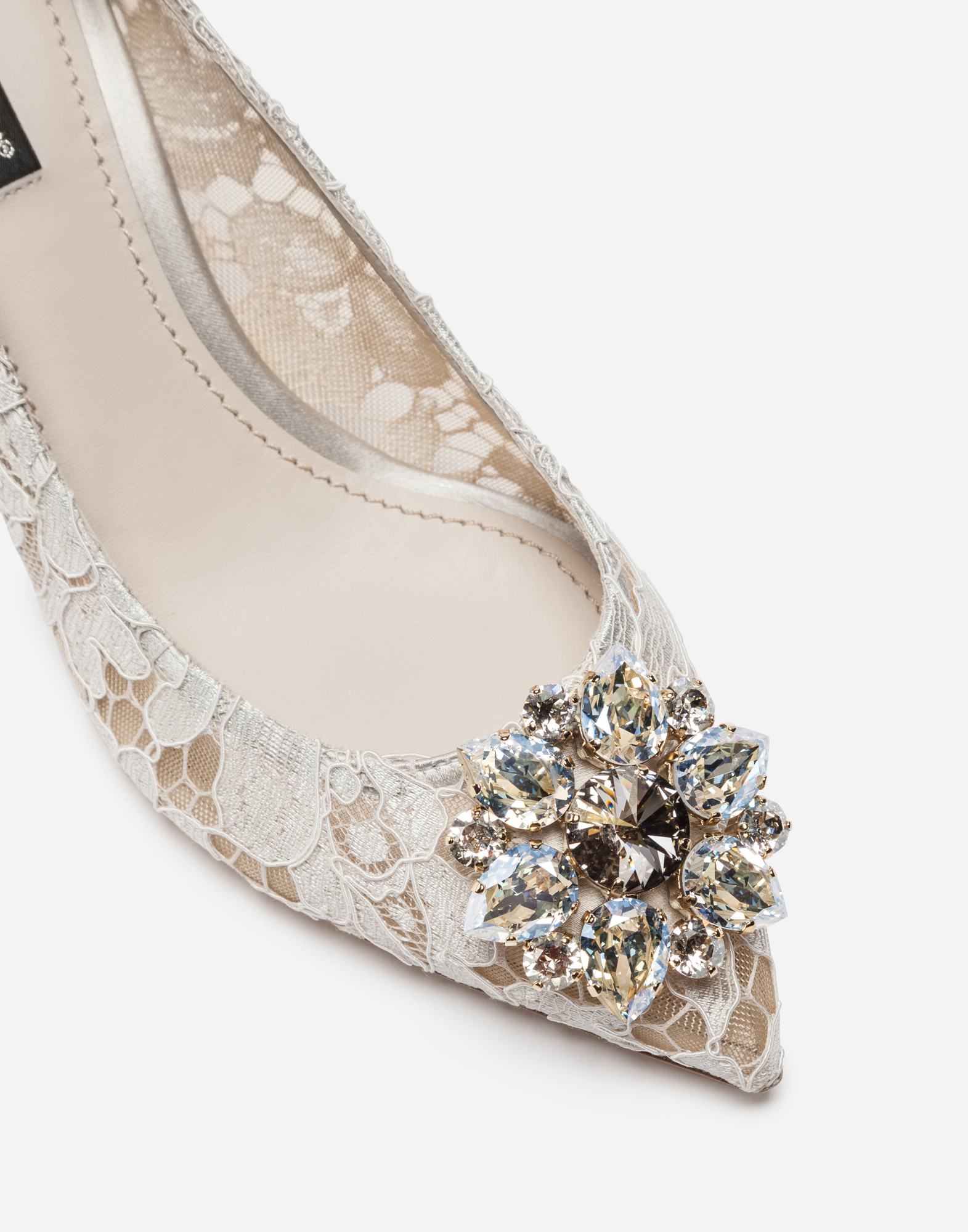 Dolce&Gabbana PUMP IN TAORMINA LACE WITH CRYSTALS