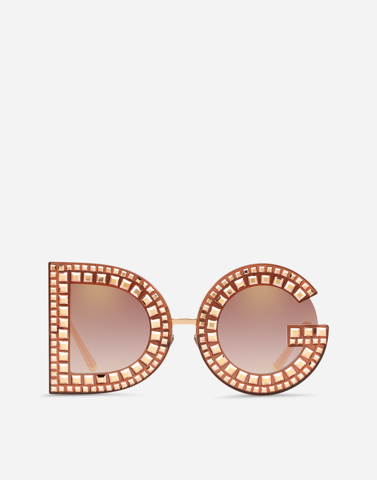 DG SUNGLASSES WITH CRYSTAL DETAILS