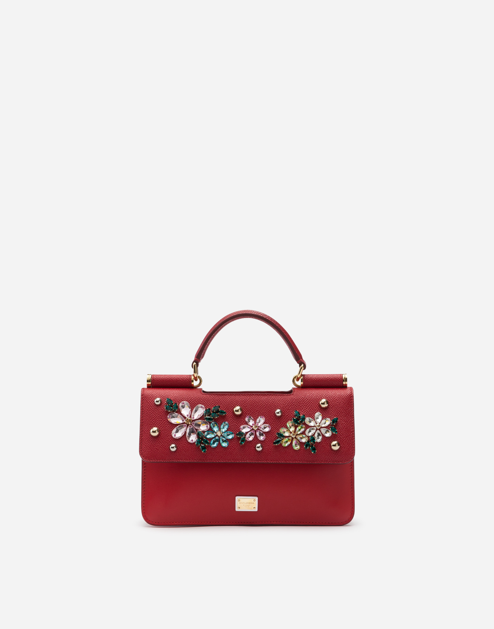 Dolce & Gabbana SICILY MINI BAG IN DAUPHINE CALFSKIN WITH EMBROIDERY