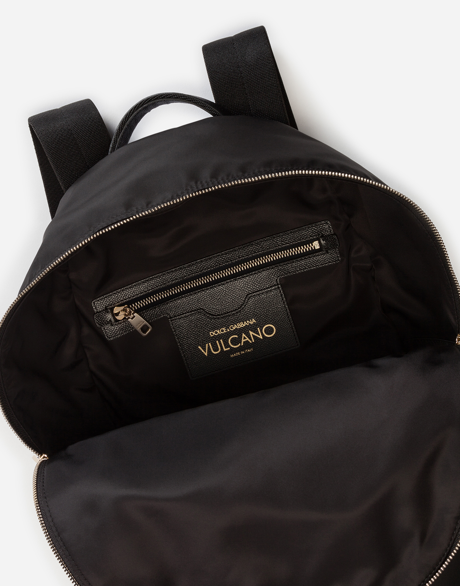 Dolce&Gabbana VULCANO BACKPACK WITH PATCHES OF THE DESIGNERS