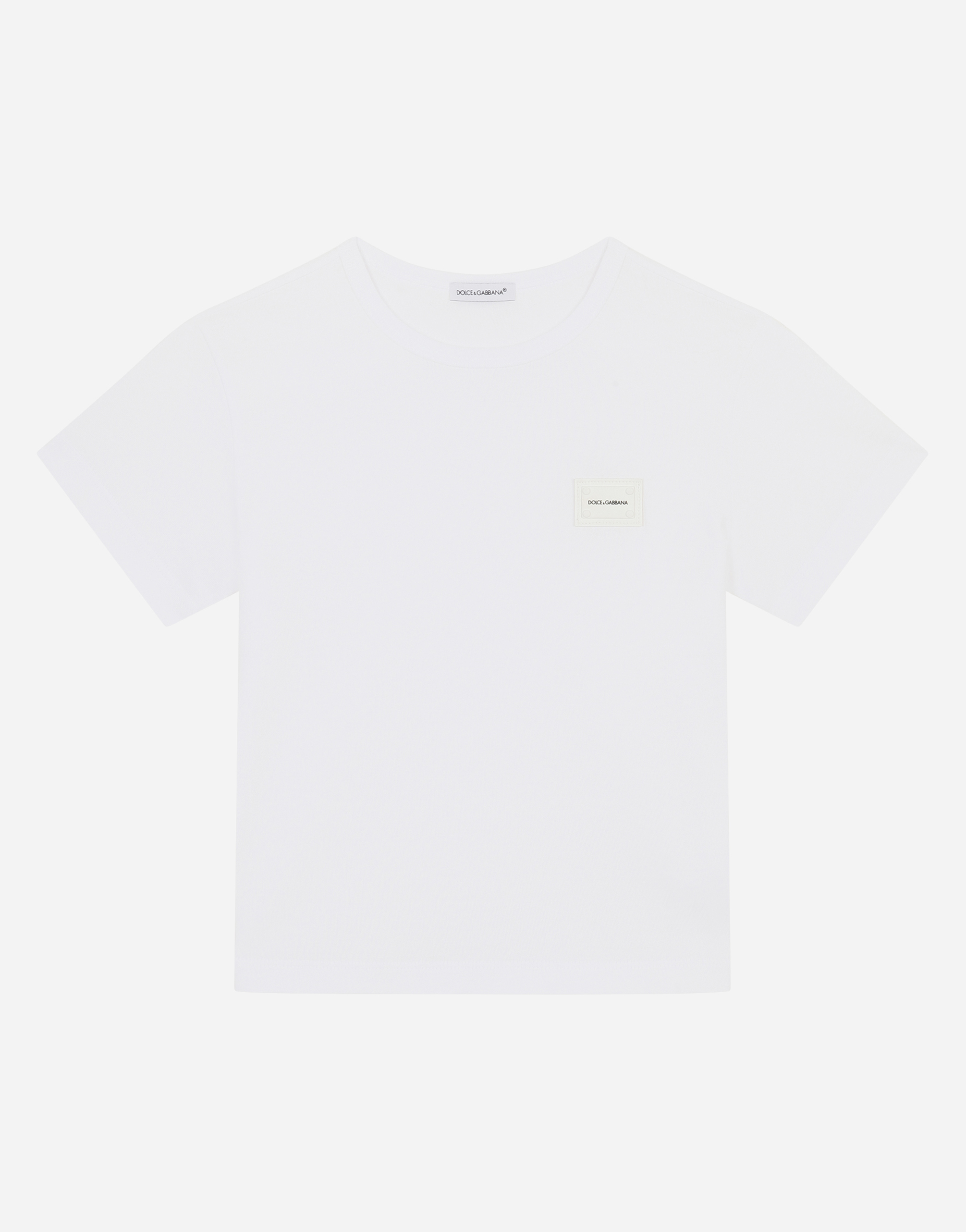 Dolce & Gabbana COTTON T-SHIRT WITH PLATE