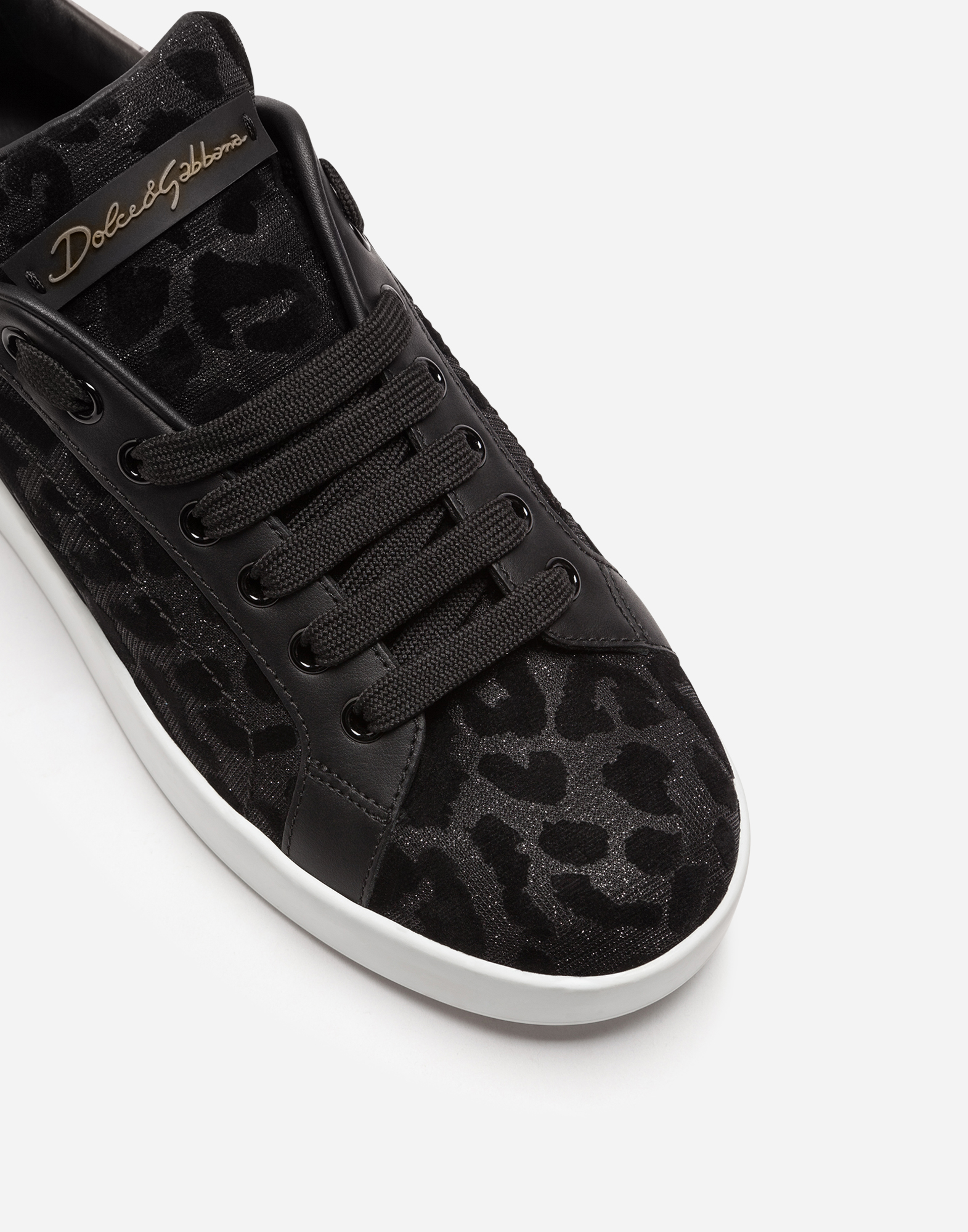 PORTOFINO SNEAKERS IN COLOR-CHANGING LEOPARD FABRIC