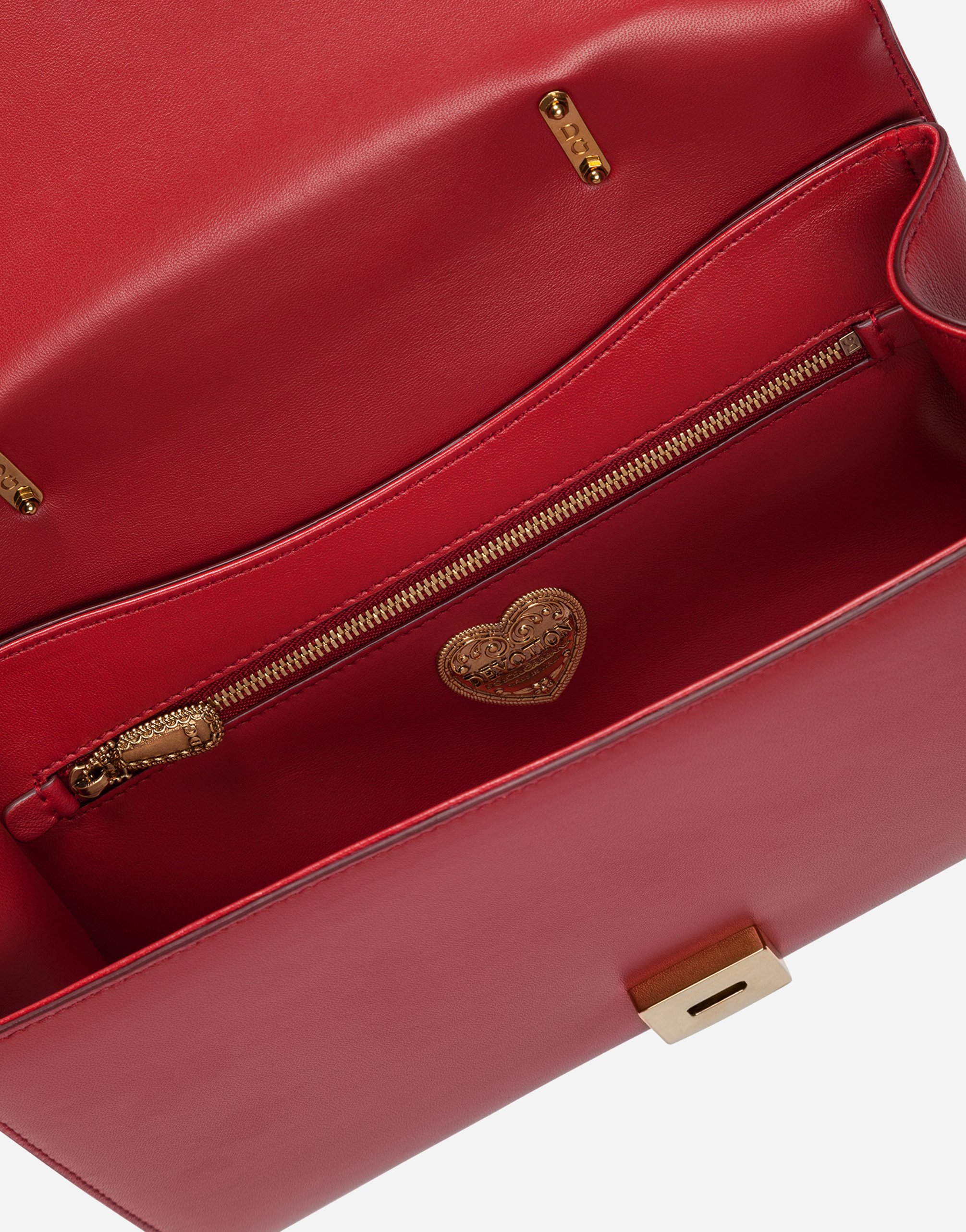 Dolce&Gabbana LARGE DEVOTION BAG IN QUILTED NAPPA LEATHER