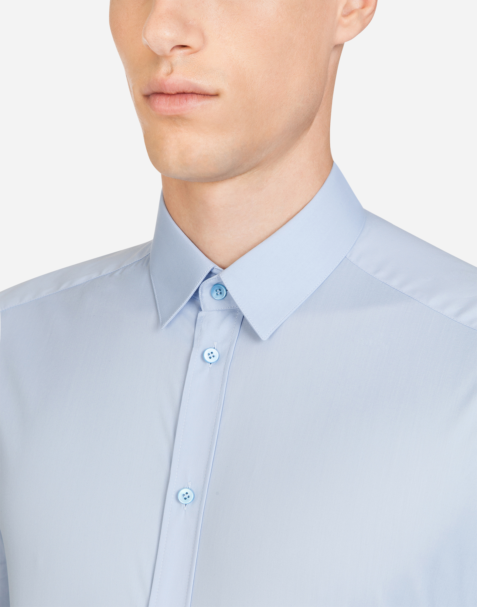 Dolce&Gabbana GOLD FIT SHIRT IN STRETCH COTTON