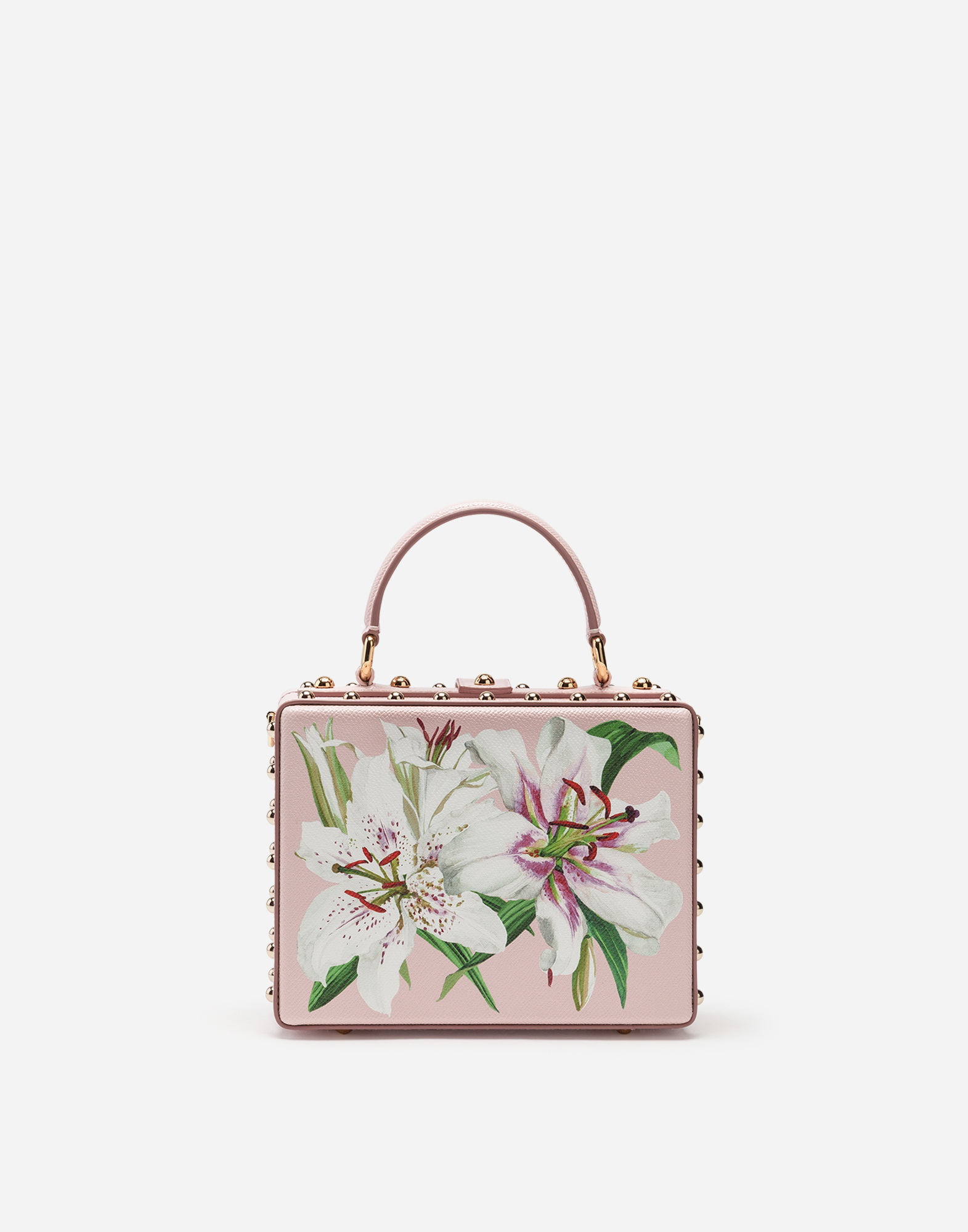 9c0506ee0b Collection - DOLCE BOX BAG IN LILY-PRINT DAUPHINE CALFSKIN WITH ...