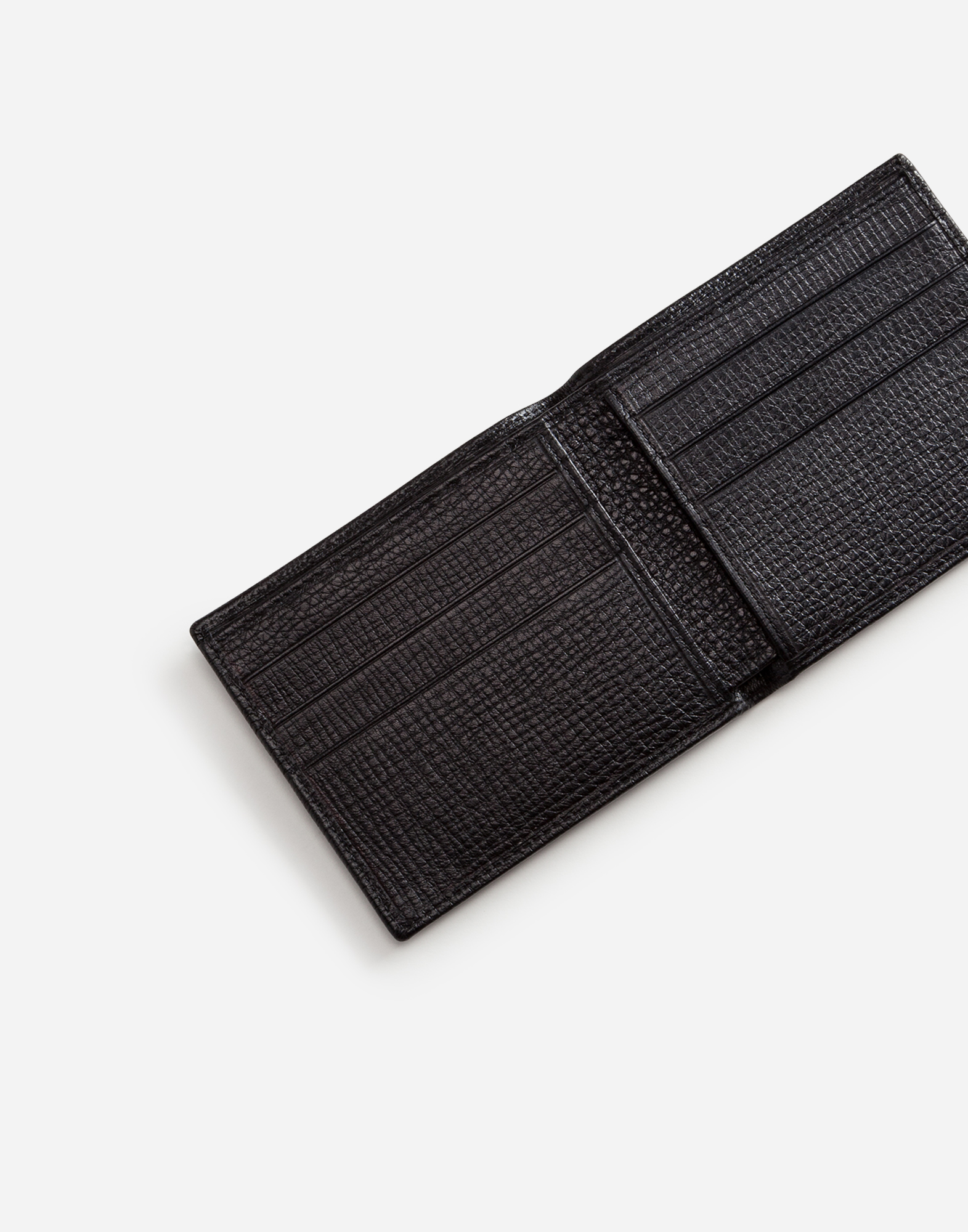 BOARDED CALFSKIN WALLET WITH PATCH