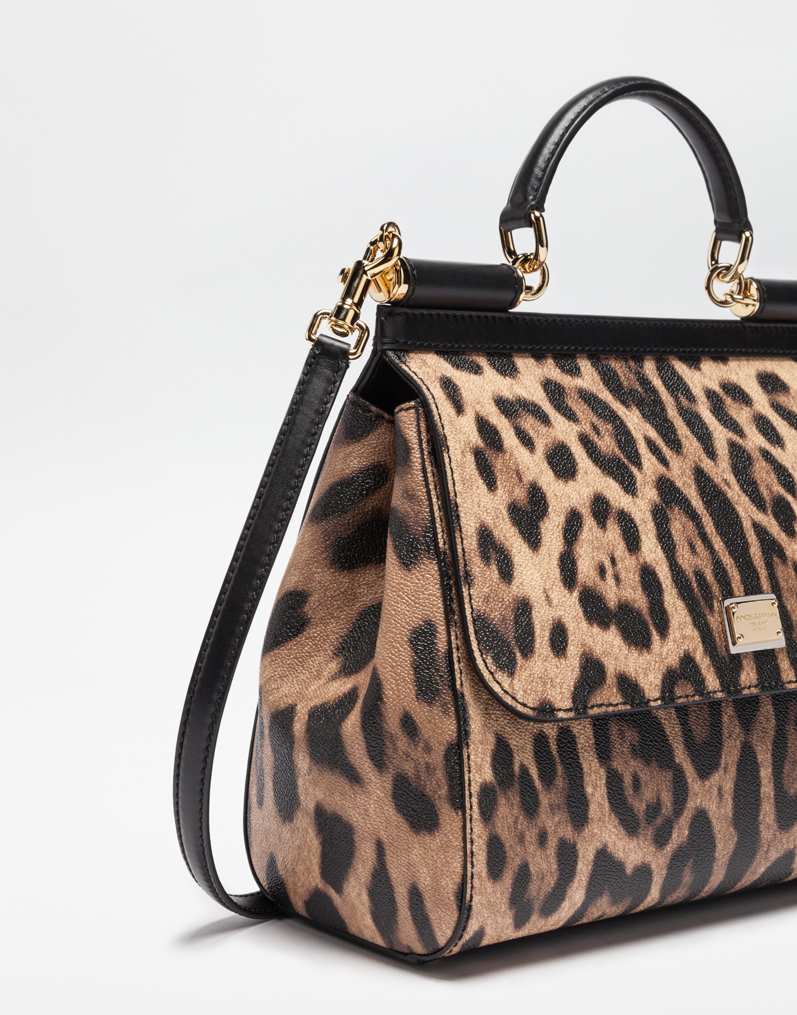 cadc80be88 Regular Sicily Bag In Leopard Textured Leather - Women