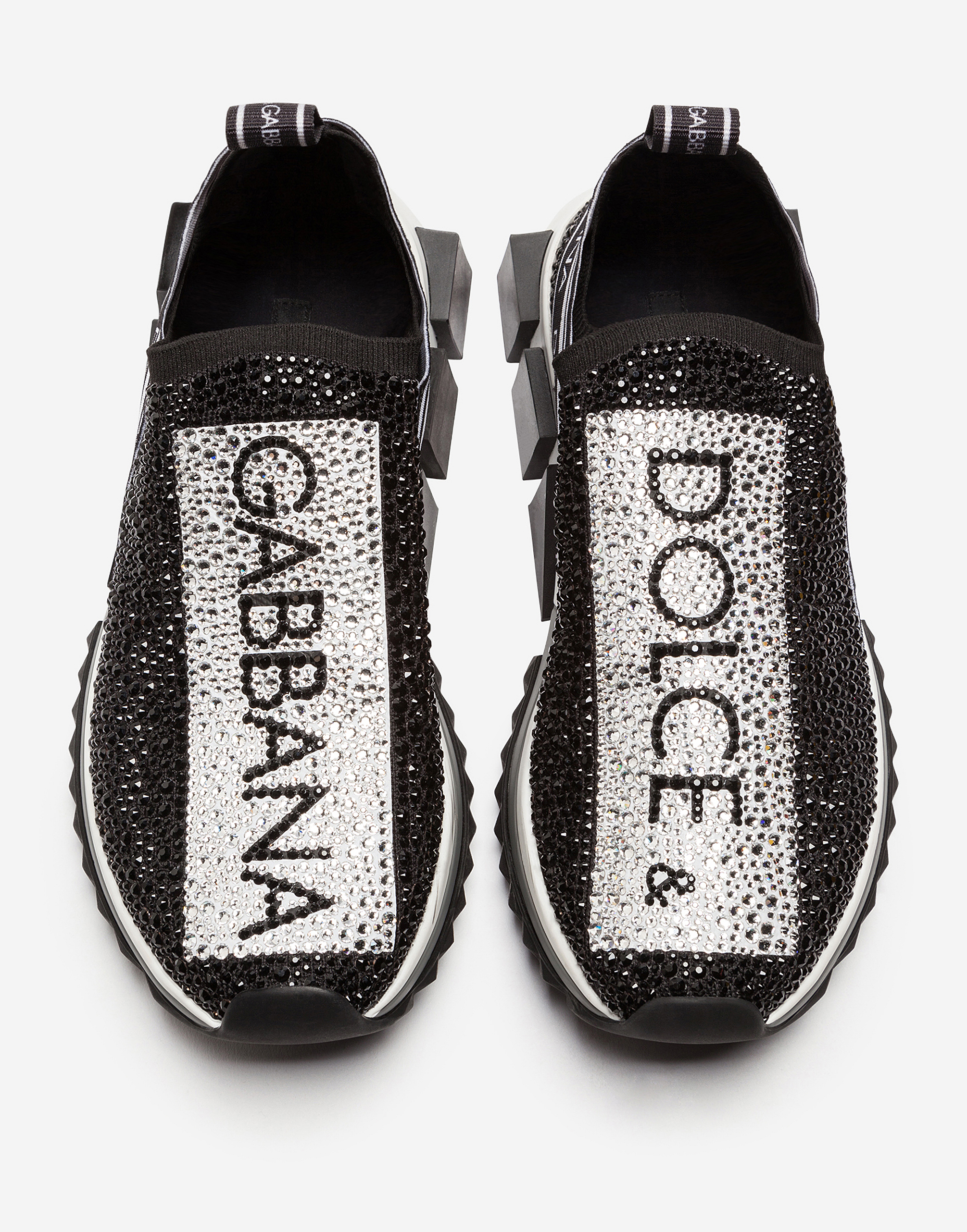 e418c2b430da Sorrento Sneakers with Crystals - Women's Shoes | Dolce&Gabbana
