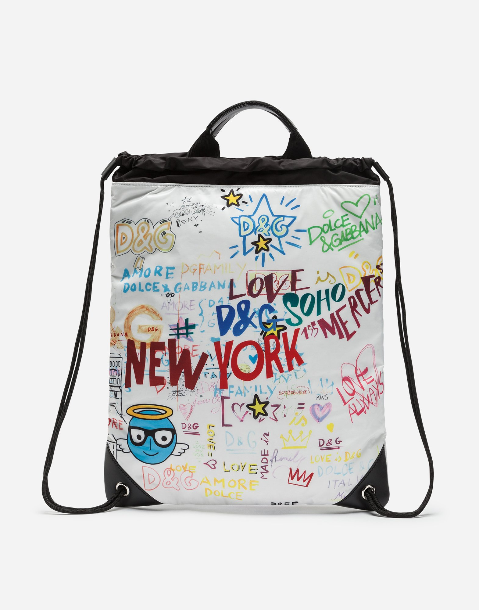DRAWSTRING BACKPACK IN PRINTED NYLON