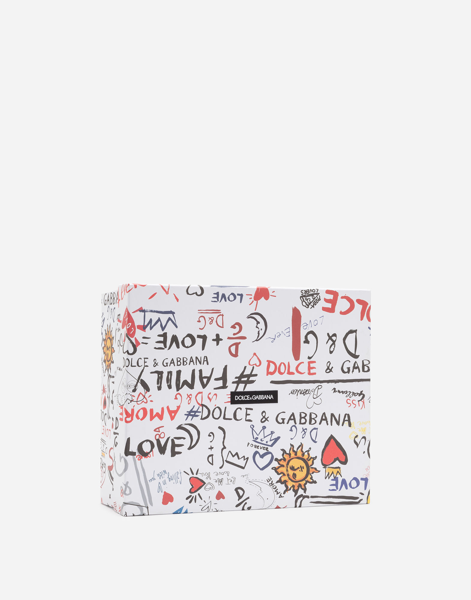 Dolce&Gabbana PRINTED CALFSKIN PORTOFINO SNEAKERS WITH PATCH AND EMBROIDERY