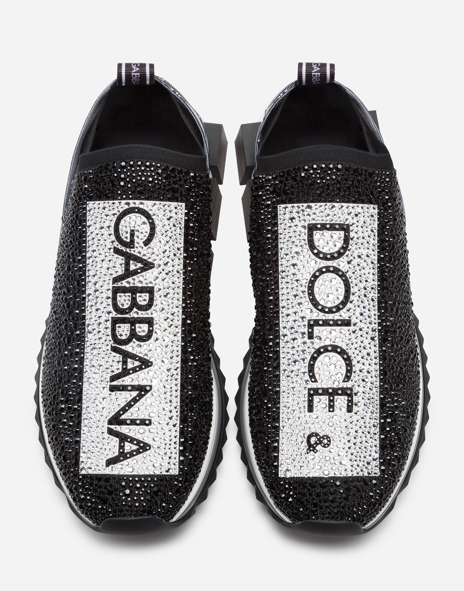 Dolce & Gabbana SORRENTO SNEAKERS WITH RHINESTONES
