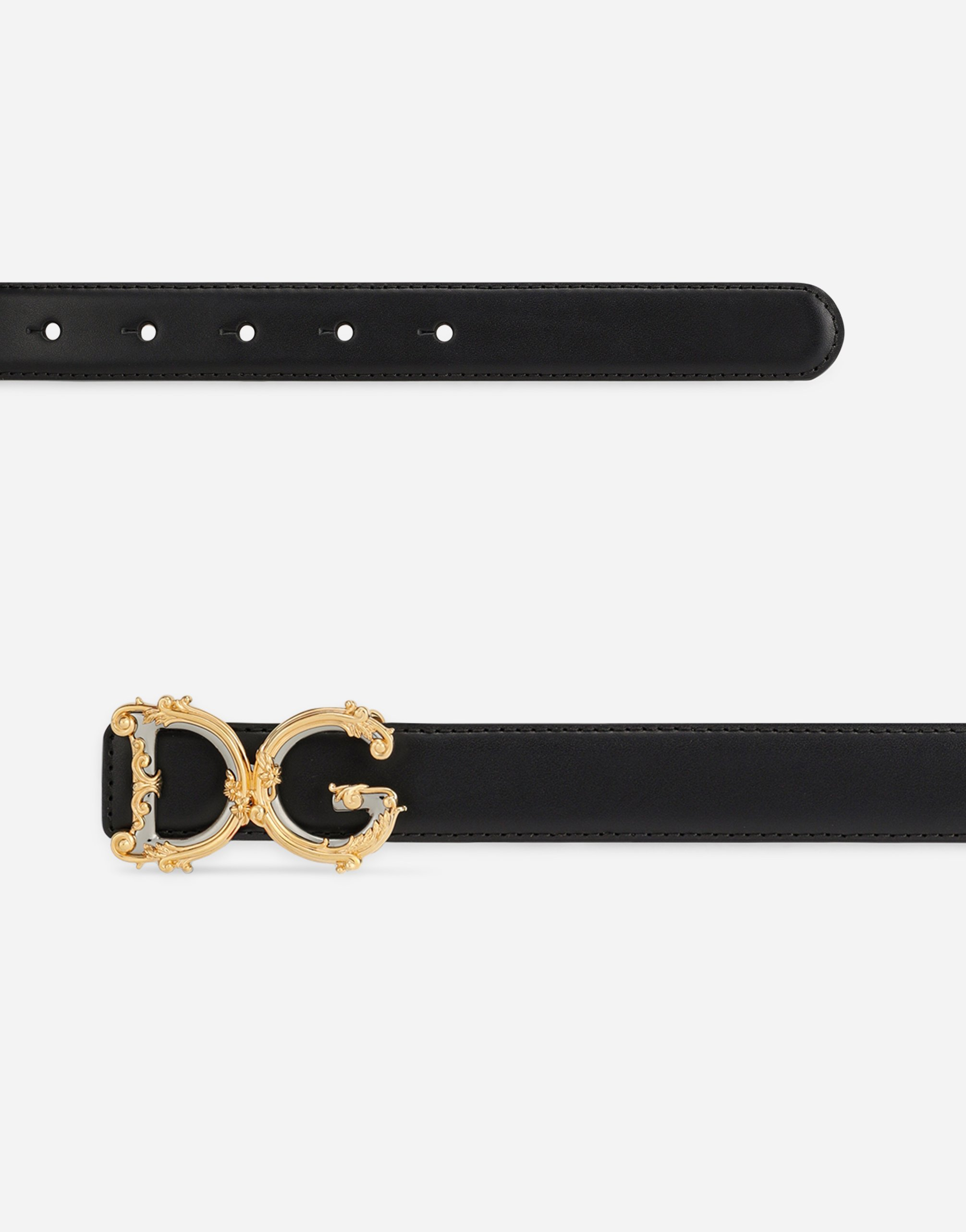 Dolce & Gabbana CALFSKIN BELT WITH LOGO