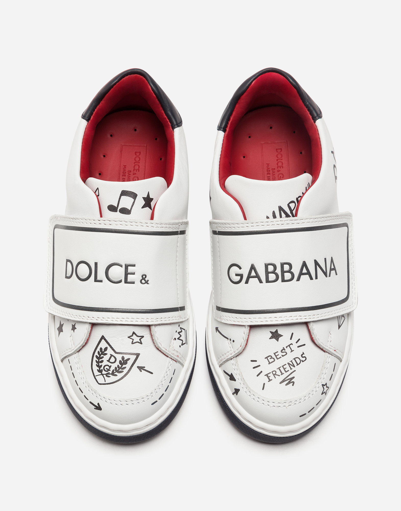 Dolce&Gabbana FIRST STEPS LEATHER SNEAKERS