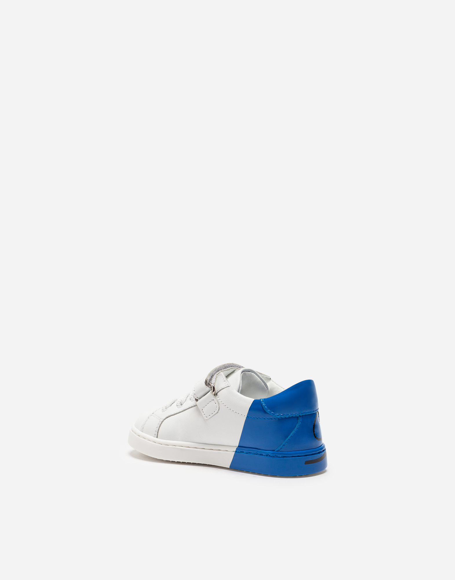 Dolce&Gabbana KID'S FIRST STEPS LEATHER SNEAKERS