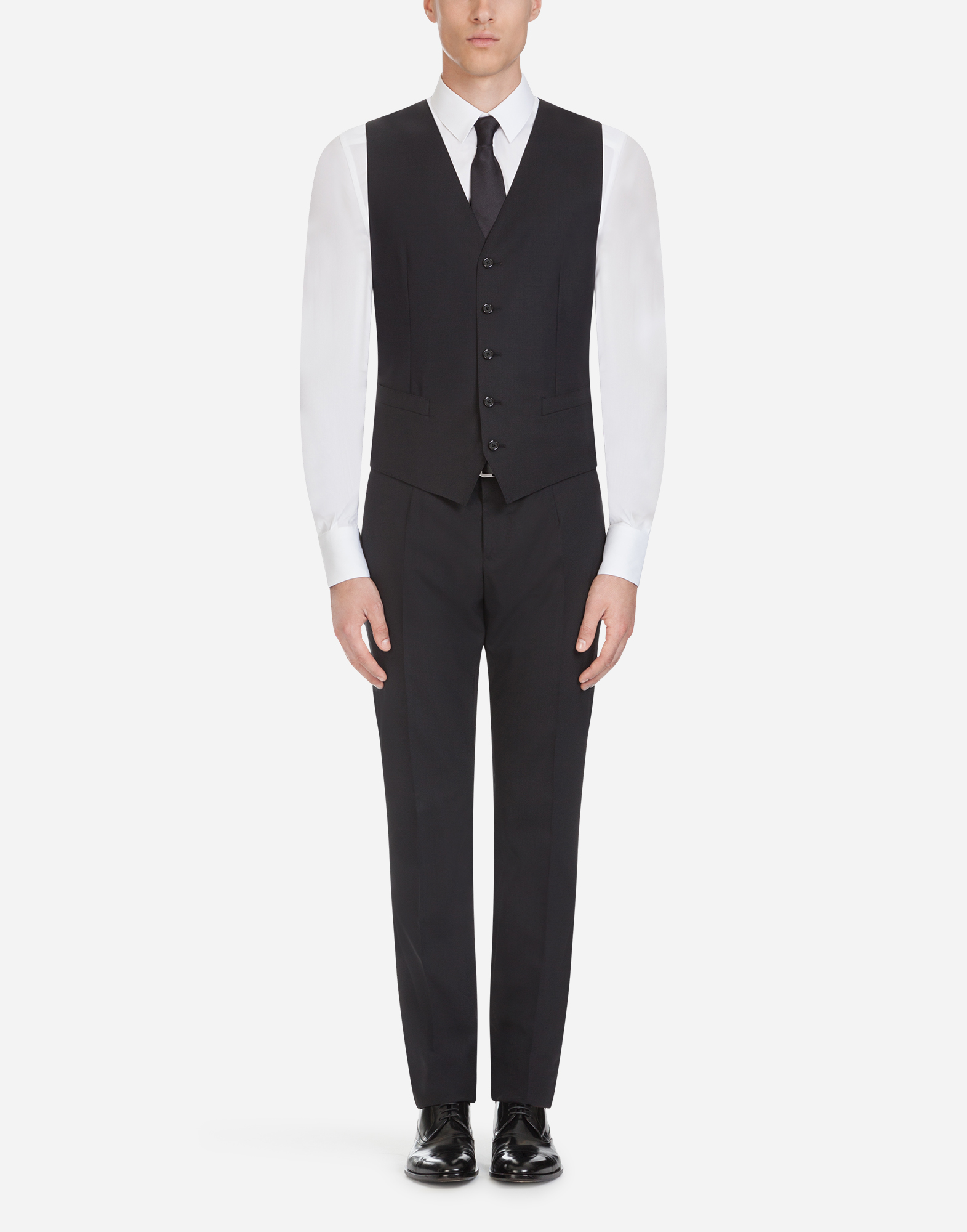 Dolce&Gabbana TROUSERS IN STRETCH WOOL