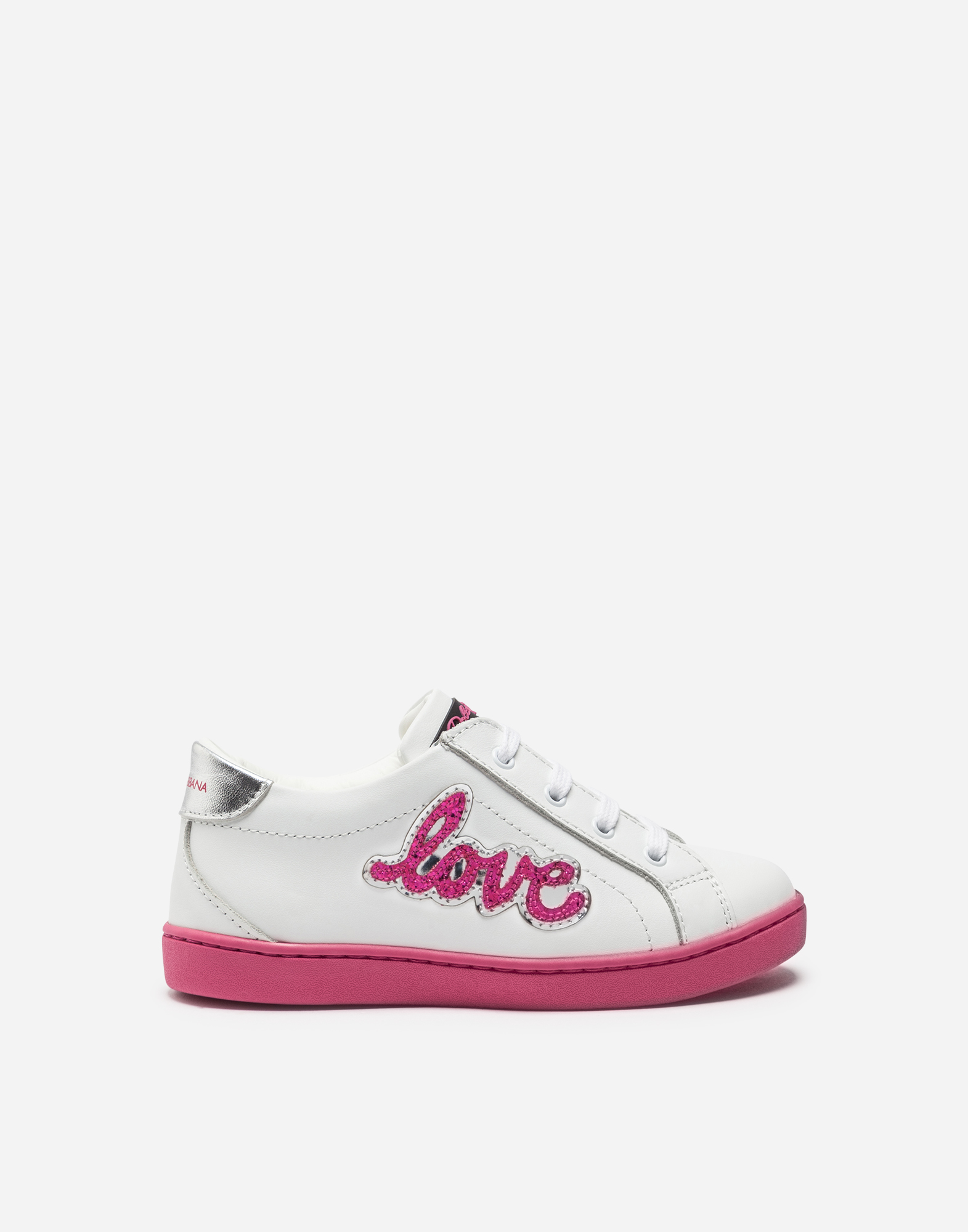 Dolce & Gabbana LEATHER SNEAKERS WITH PATCHES