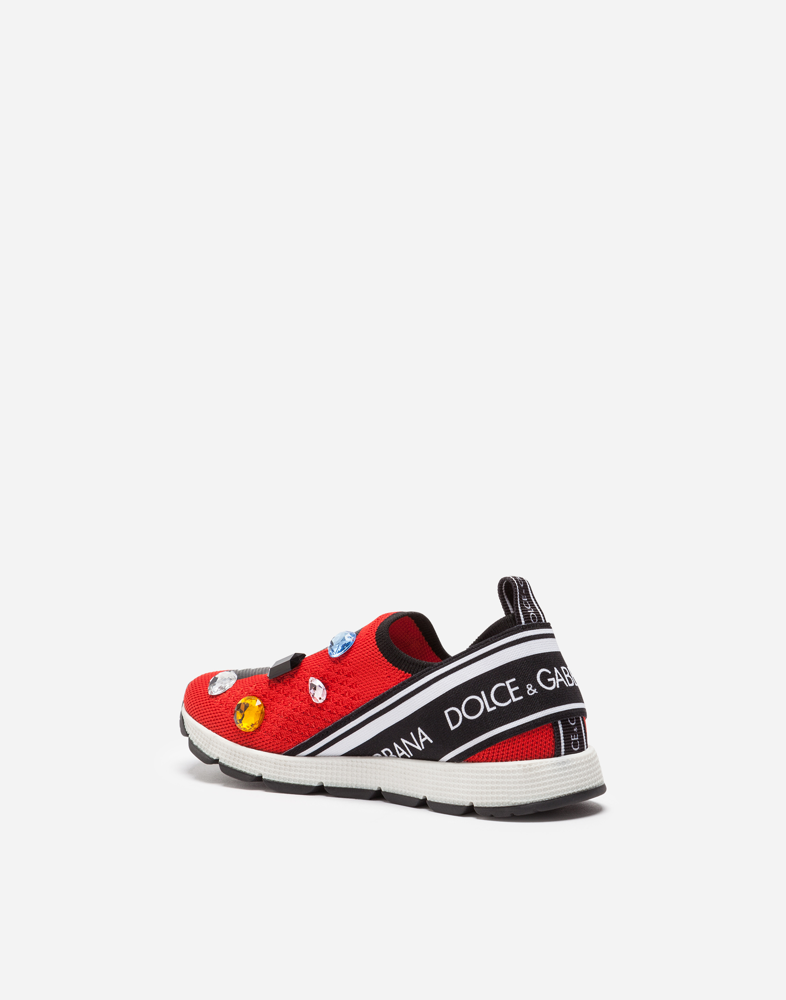 Dolce & Gabbana SORRENTO SNEAKERS WITH RHINESTONES AND EMBROIDERY