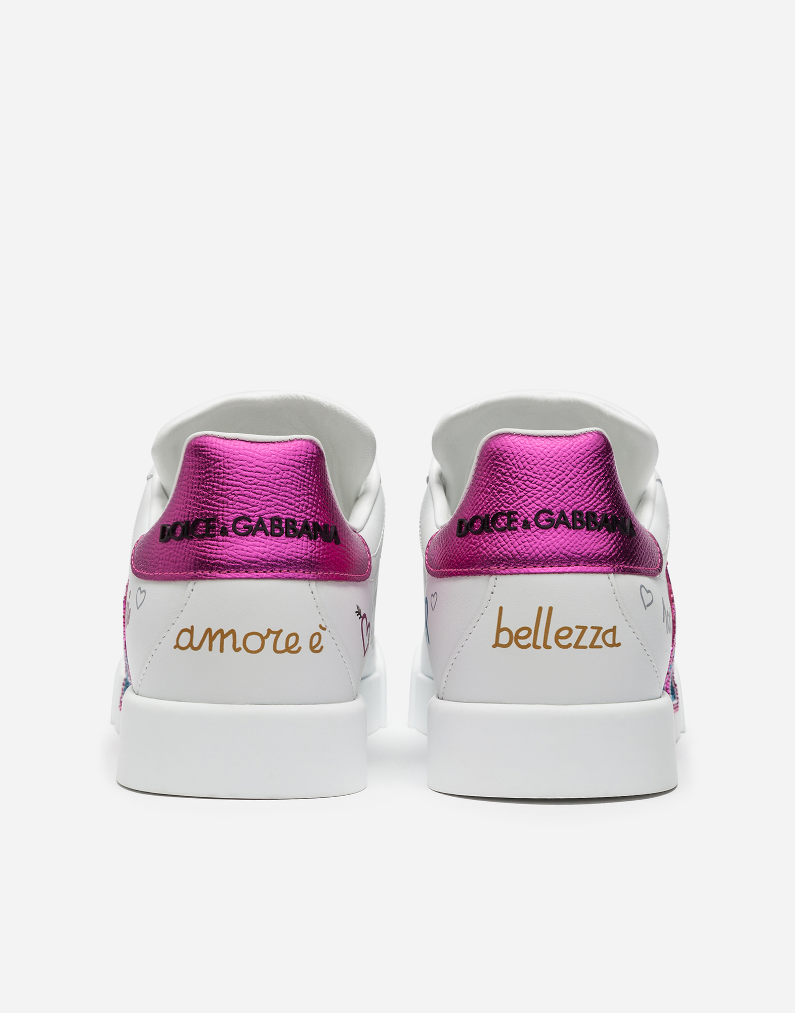 CALFSKIN SNEAKERS WITH EMBROIDERED PATCH