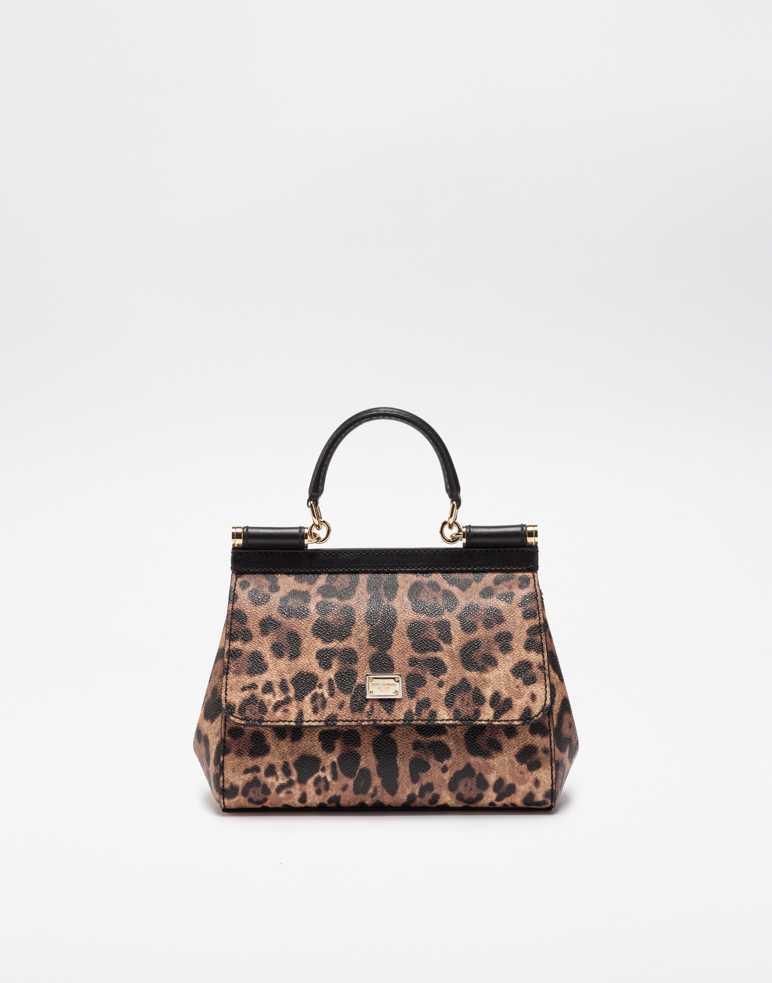 SMALL SICILY BAG IN LEOPARD TEXTURED LEATHER