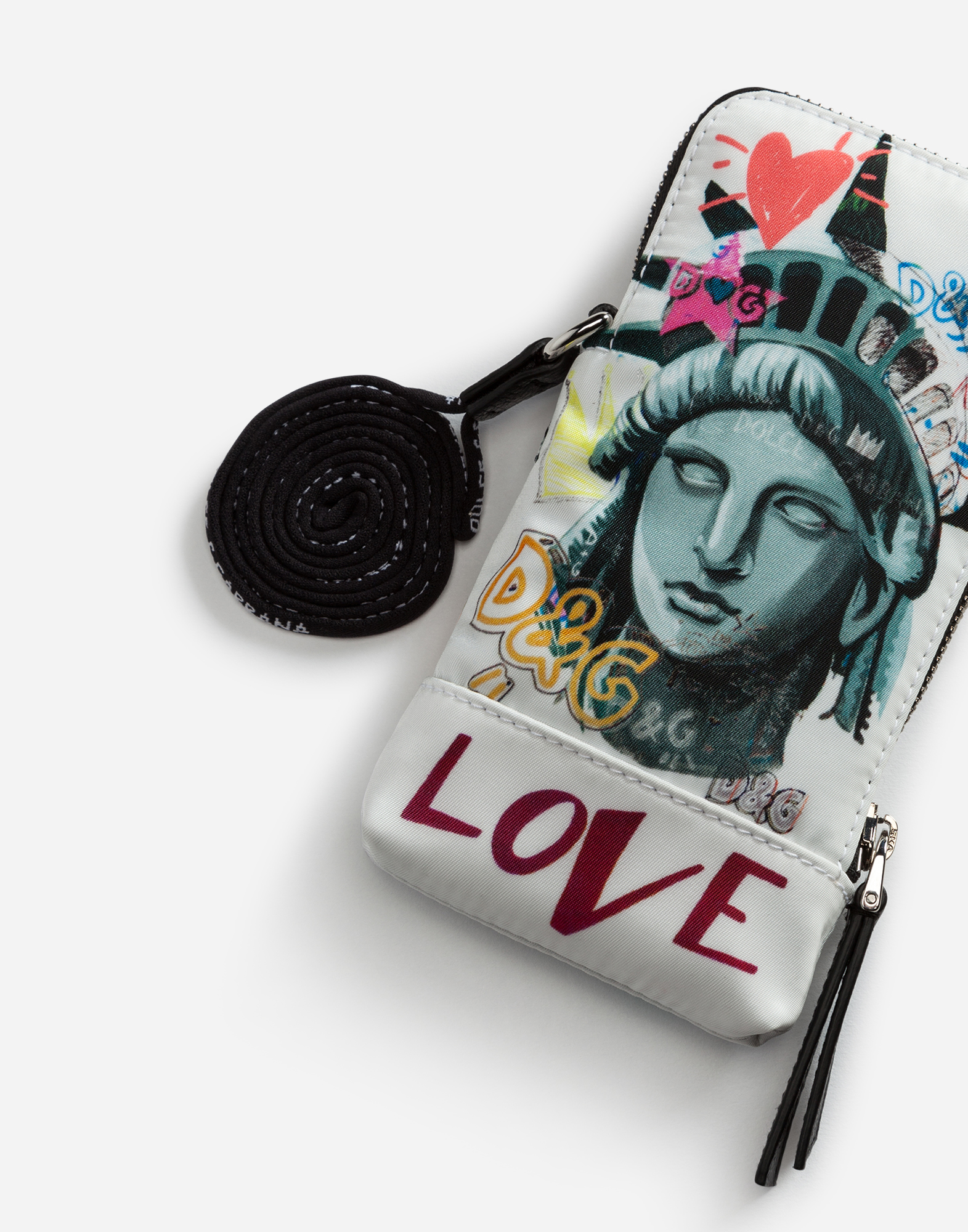Dolce&Gabbana IPHONE X COVER PRINTED WITH CHARMS