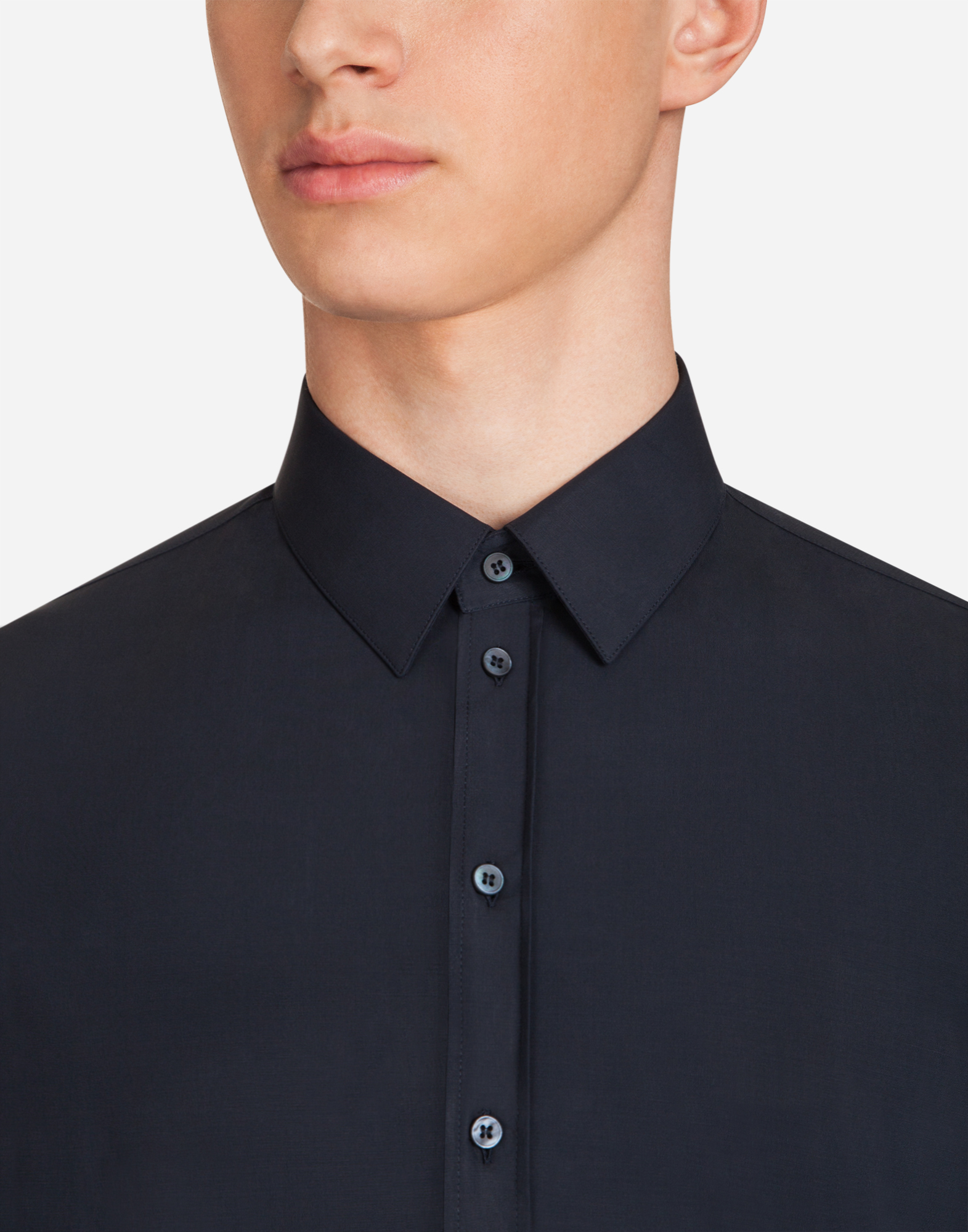 Dolce & Gabbana SICILIA-FIT SHIRT IN STRETCH POPLIN
