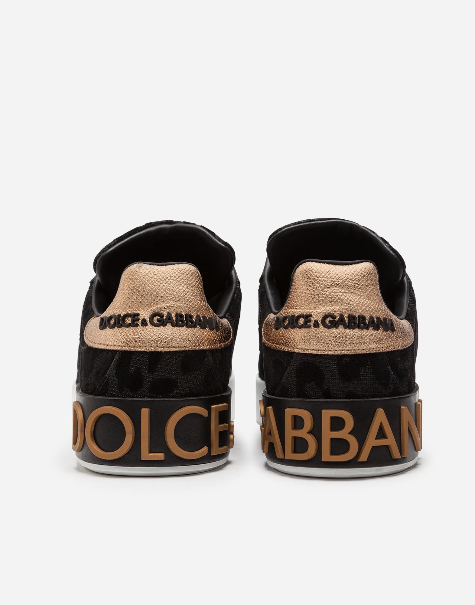 Dolce&Gabbana PORTOFINO SNEAKERS IN COLOR-CHANGING LEOPARD FABRIC