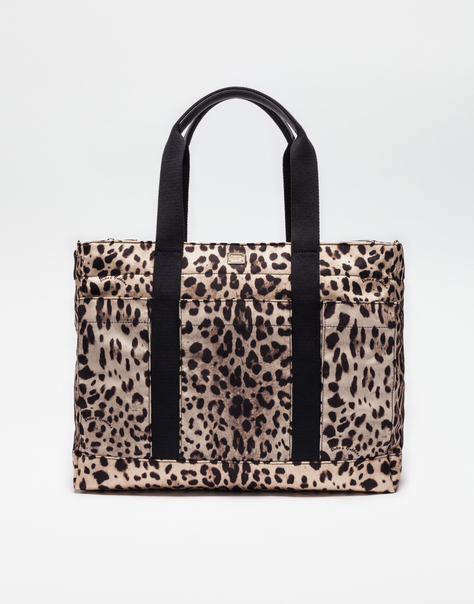 NYLON NAPPY BAG WITH LEO PRINT