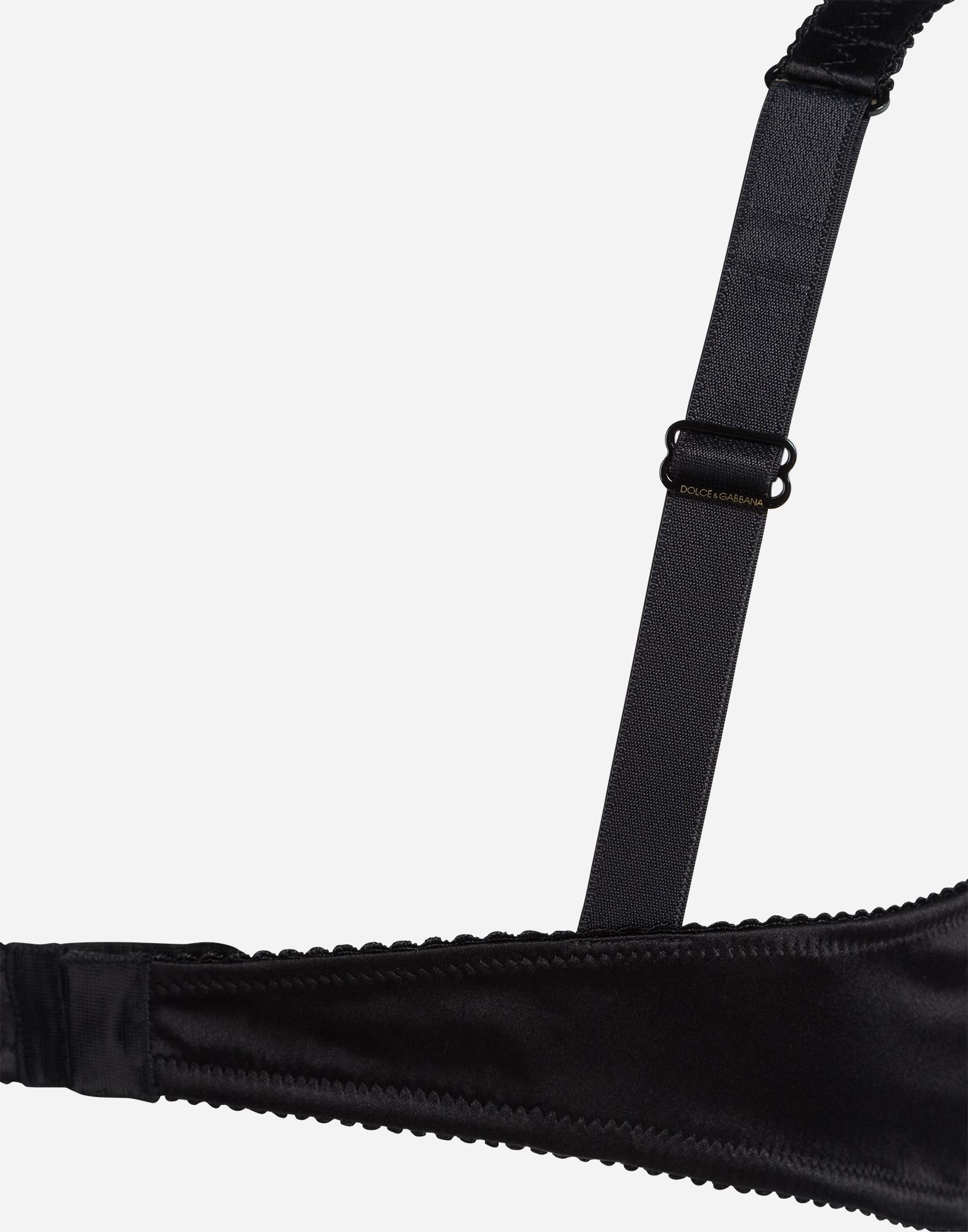 Dolce & Gabbana SILK BALCONETTE BIKINI TOP