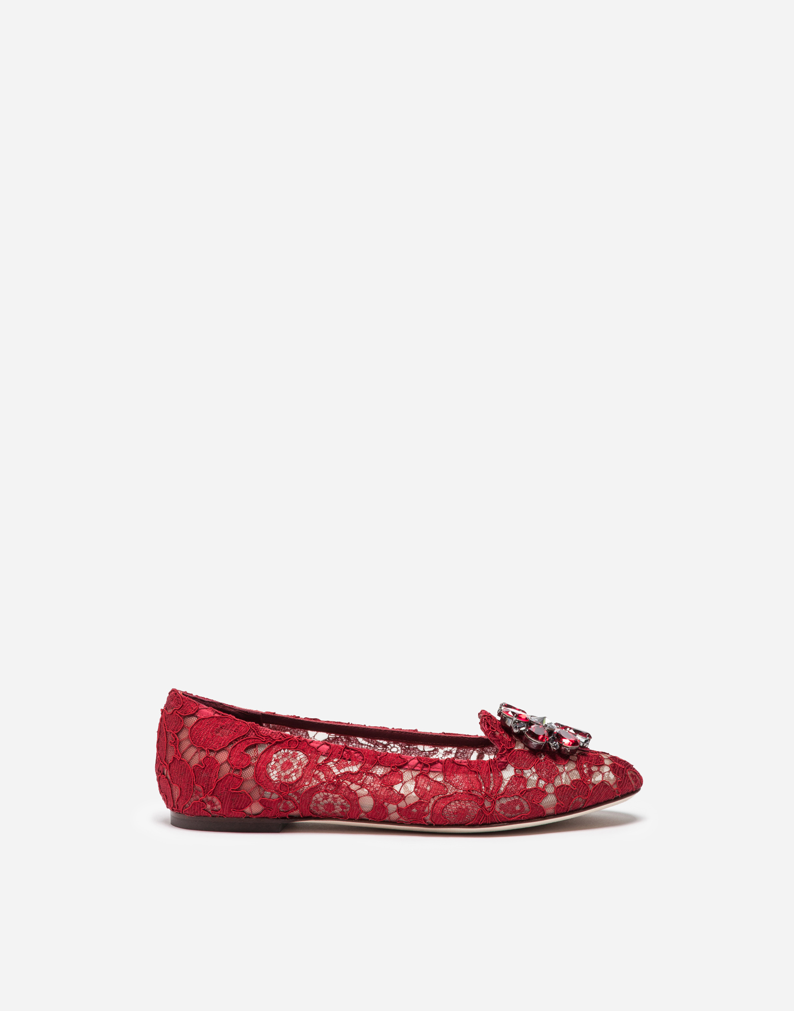 Dolce & Gabbana SLIPPER IN TAORMINA LACE WITH CRYSTALS