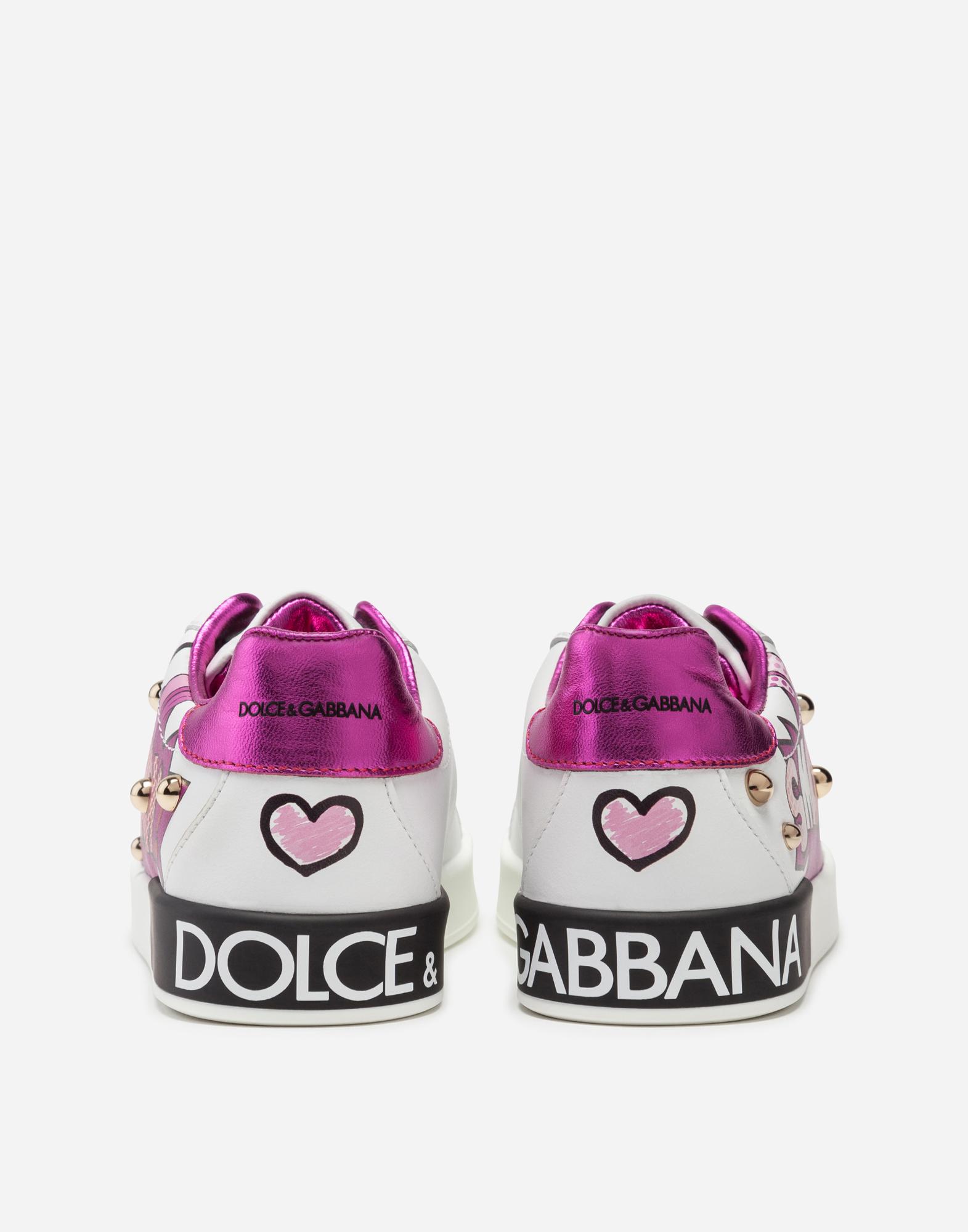 Dolce & Gabbana PORTOFINO SNEAKERS IN PRINTED NAPPA