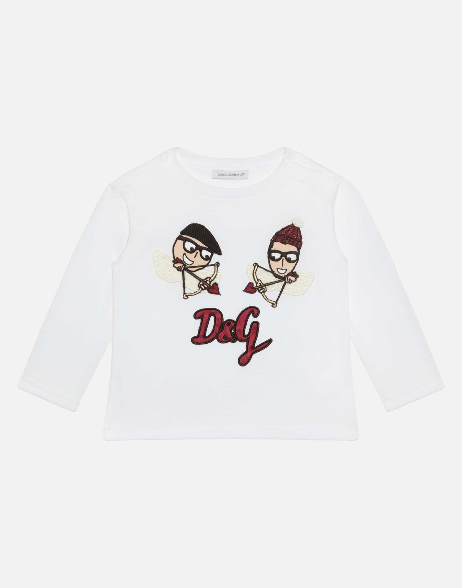Dolce & Gabbana COTTON T-SHIRT WITH PATCHES
